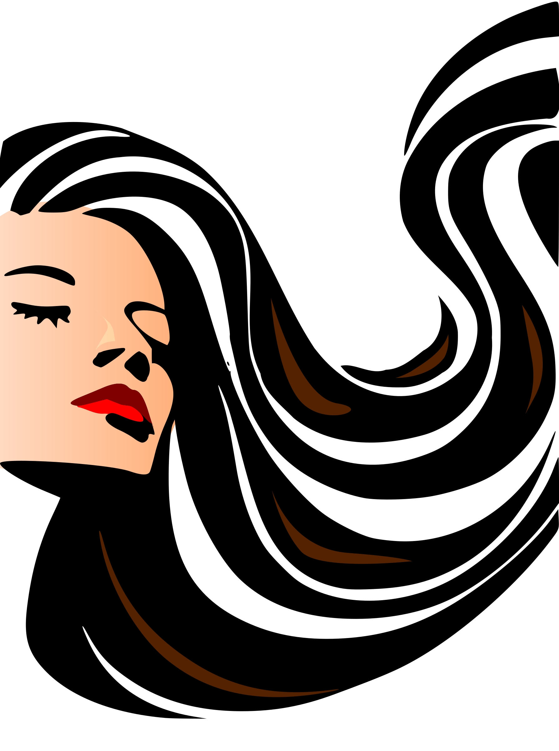 Woman Face Line Drawing Png : Clipart woman