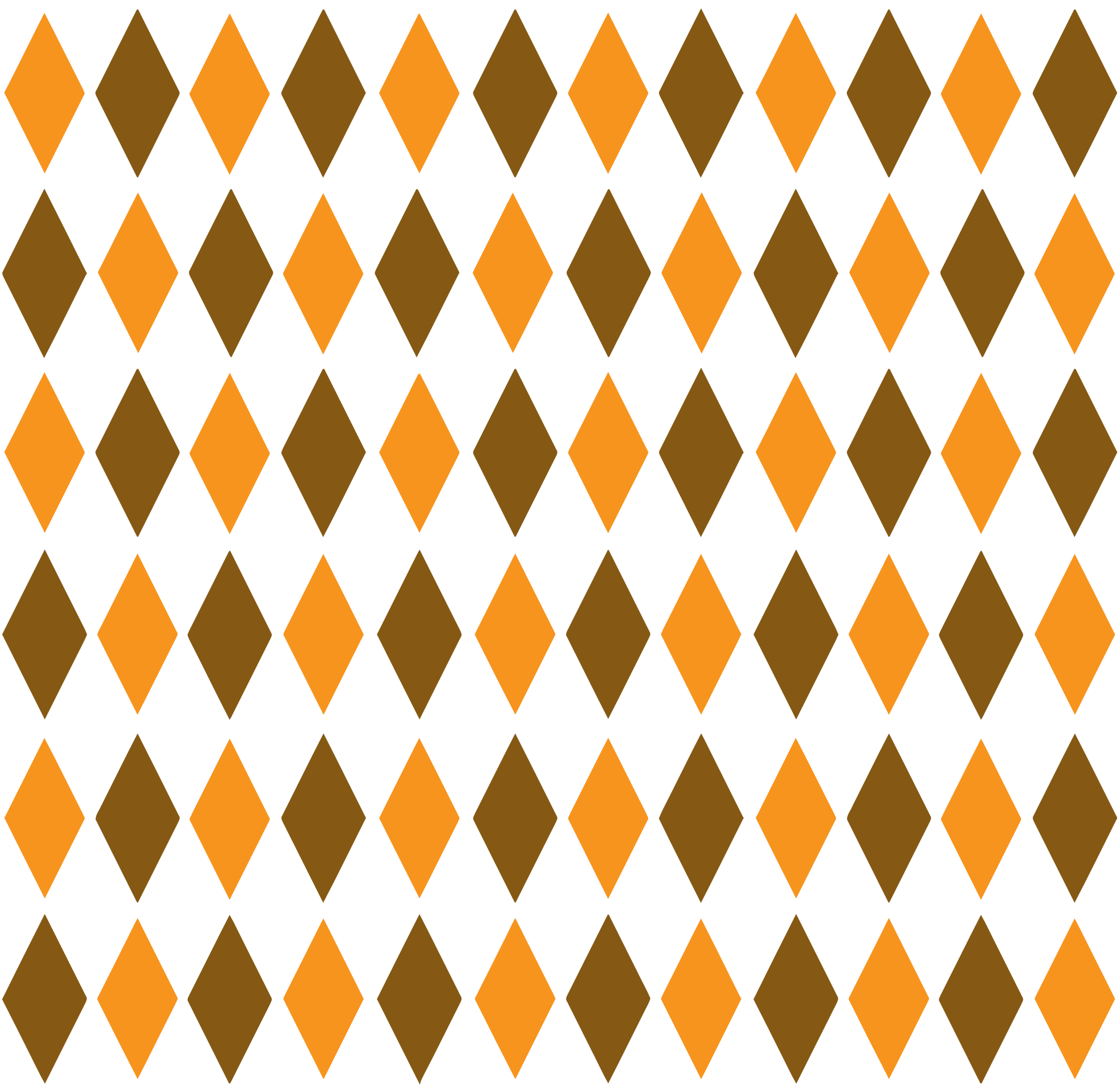 Brown & Orange Retro Diamond Pattern 1 by TikiGiki