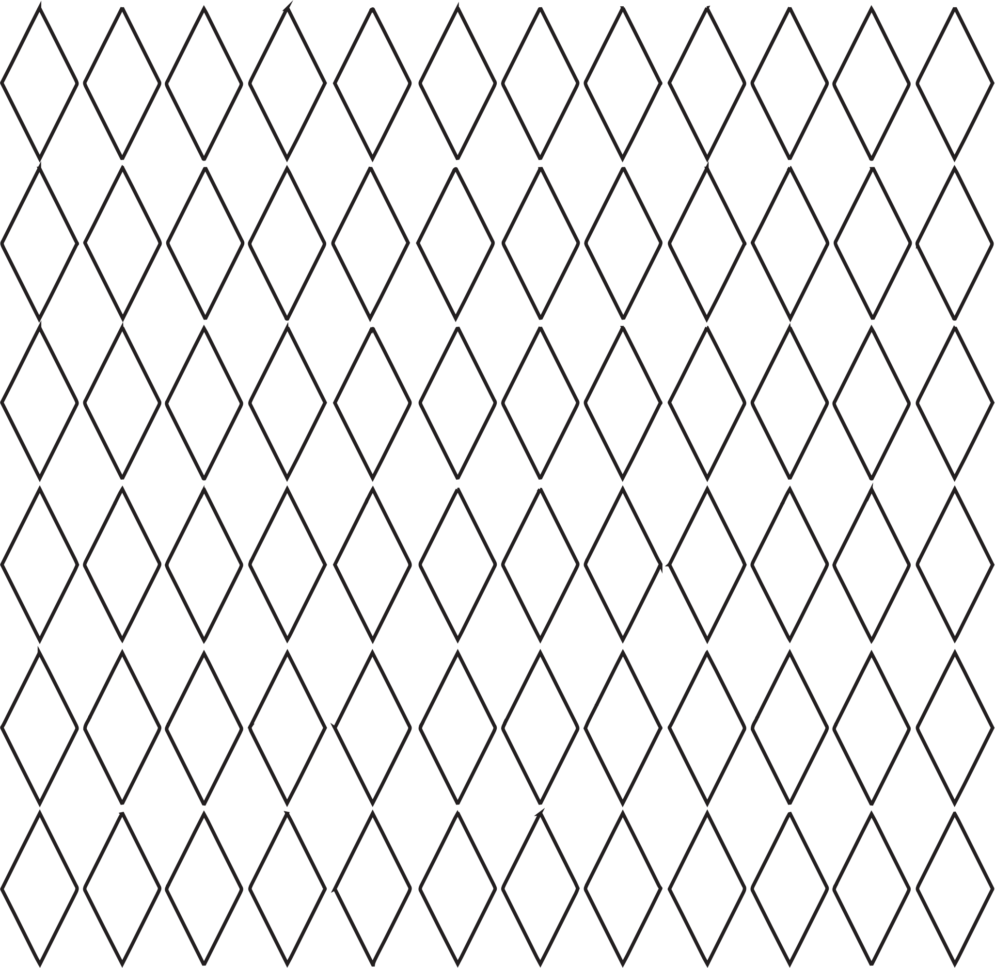 Diamond Grid Pattern - No Color 1 by TikiGiki