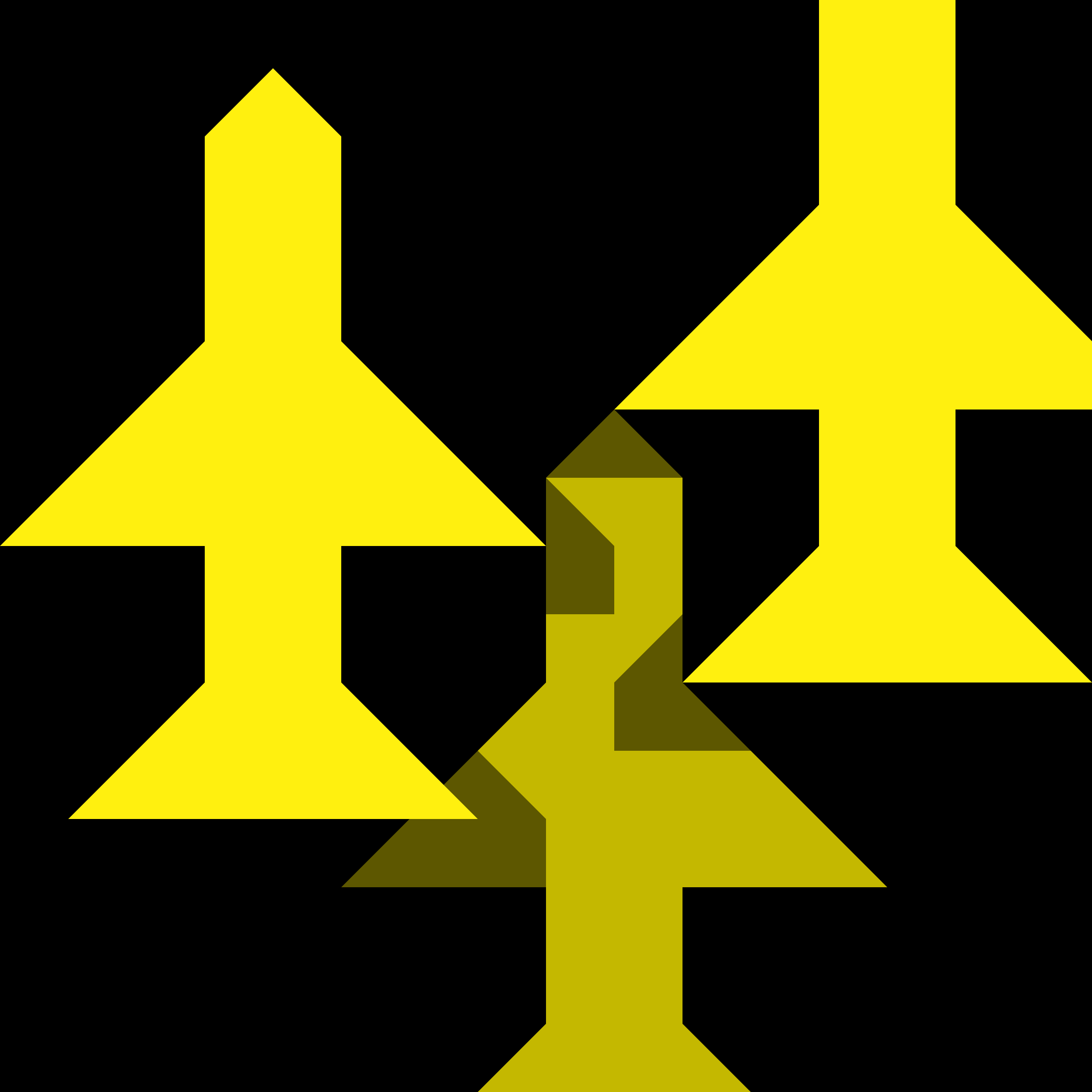Yellow Planes Flying Over Black Ground 16px Icon by qubodup
