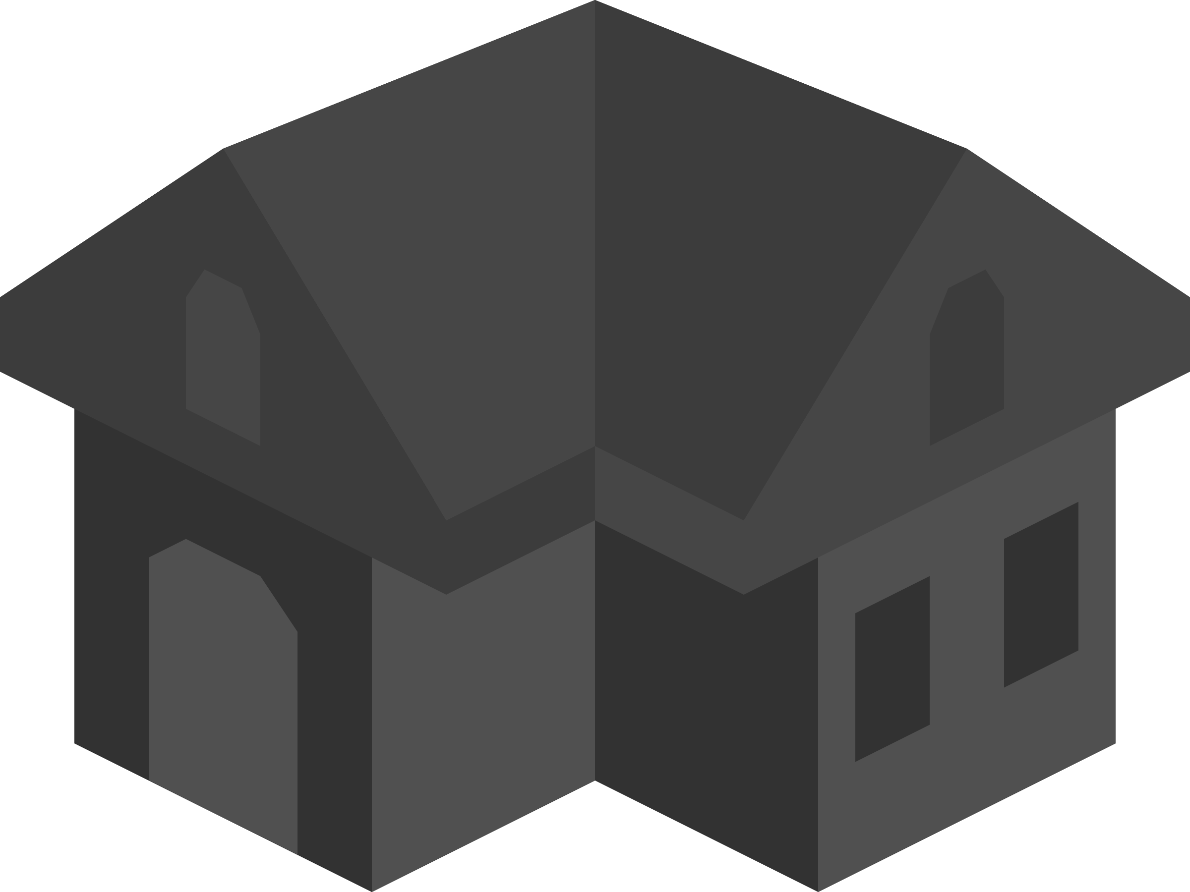 Placeholder Isometric Building Icon Dark by qubodup