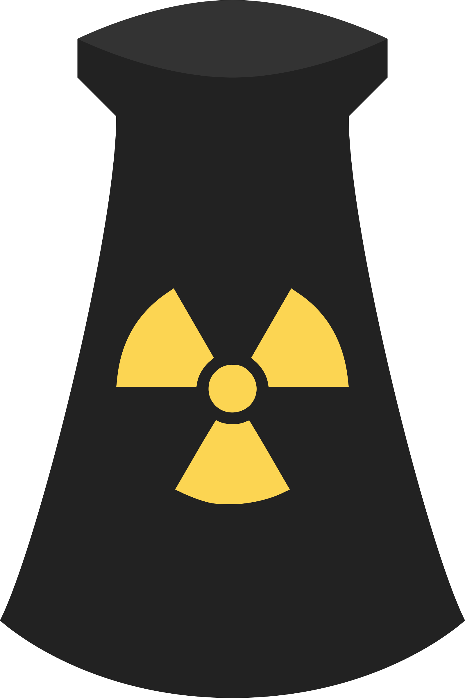Nuclear Power Plant Icon Symbol 3 by qubodup