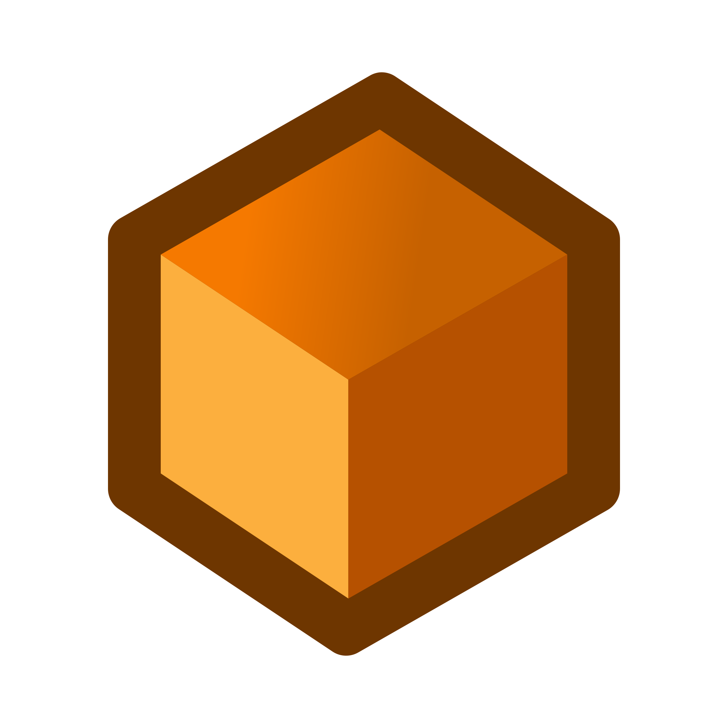 icon_cube_orange by jean_victor_balin