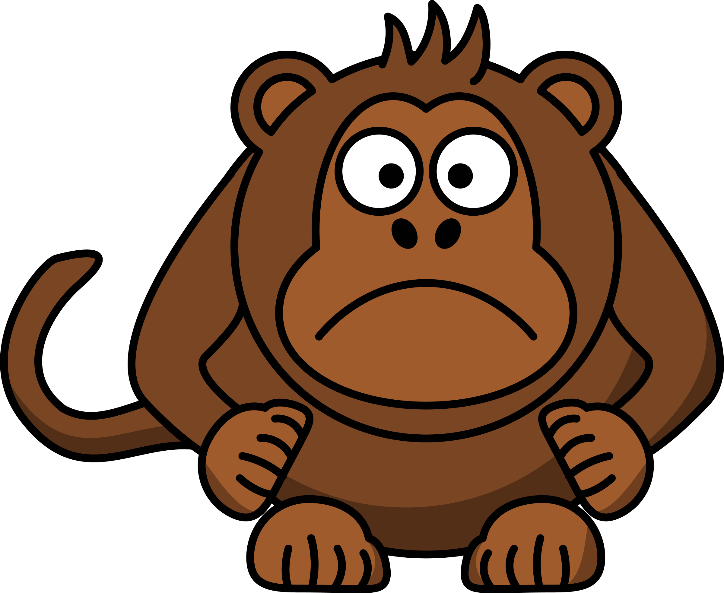 Angry Cartoon monkey by kuba