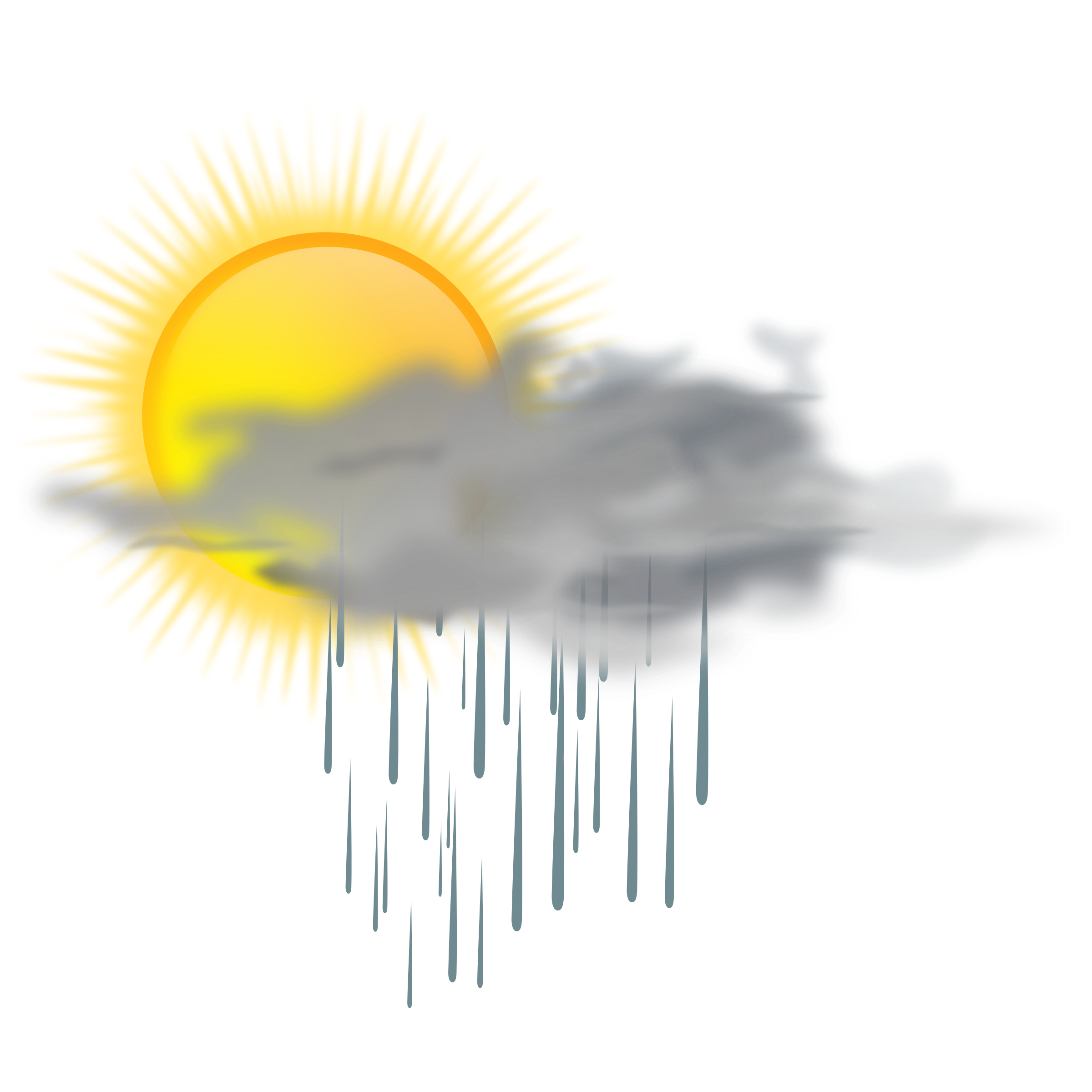 weather icon - sun rain by gnokii
