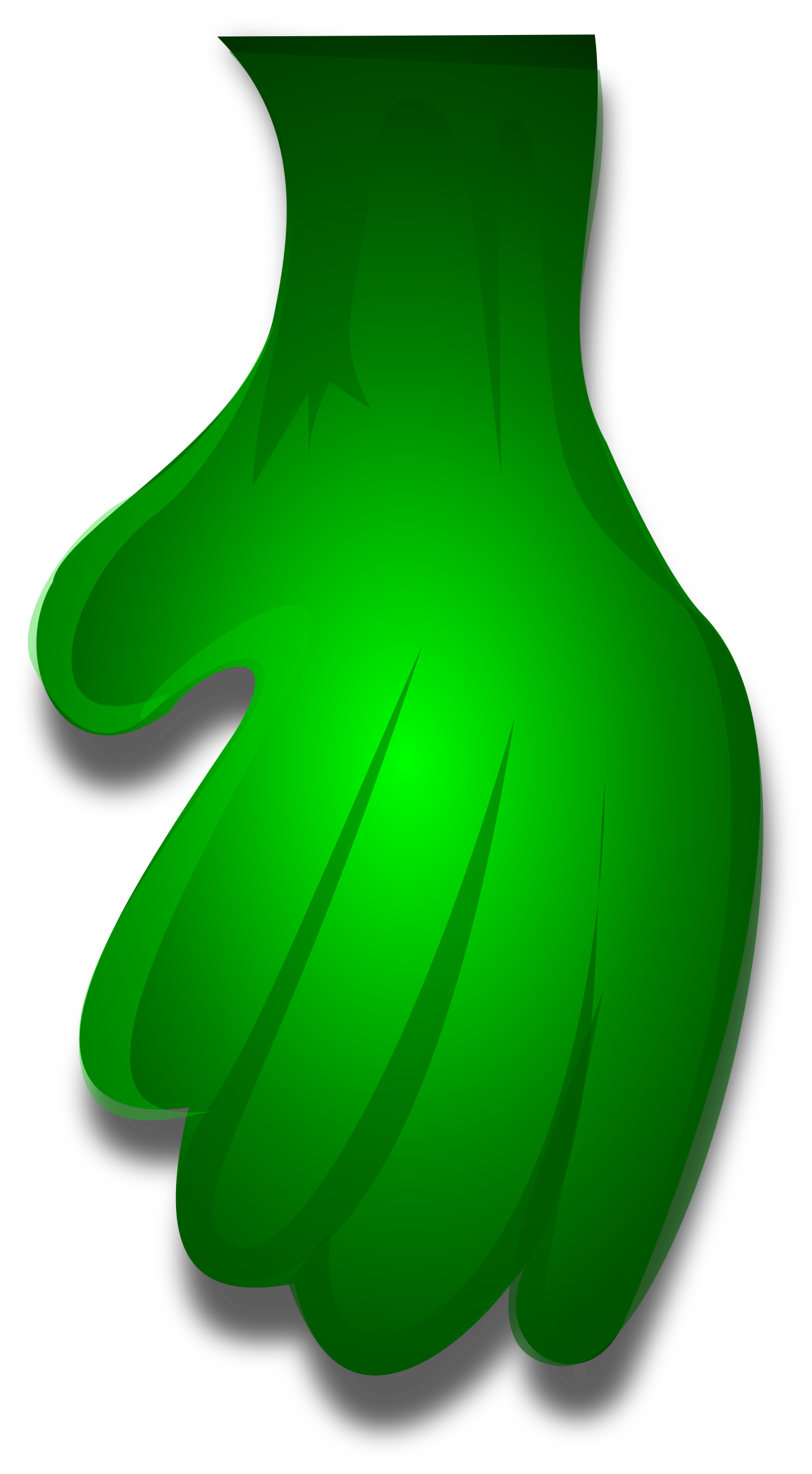 Green Monster Hand 1 by Merlin2525