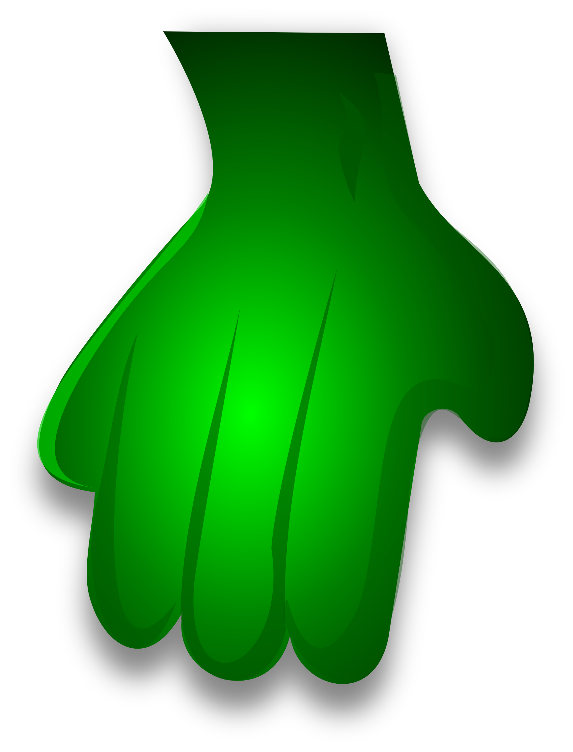 Green Monster Hand 2 by Merlin2525