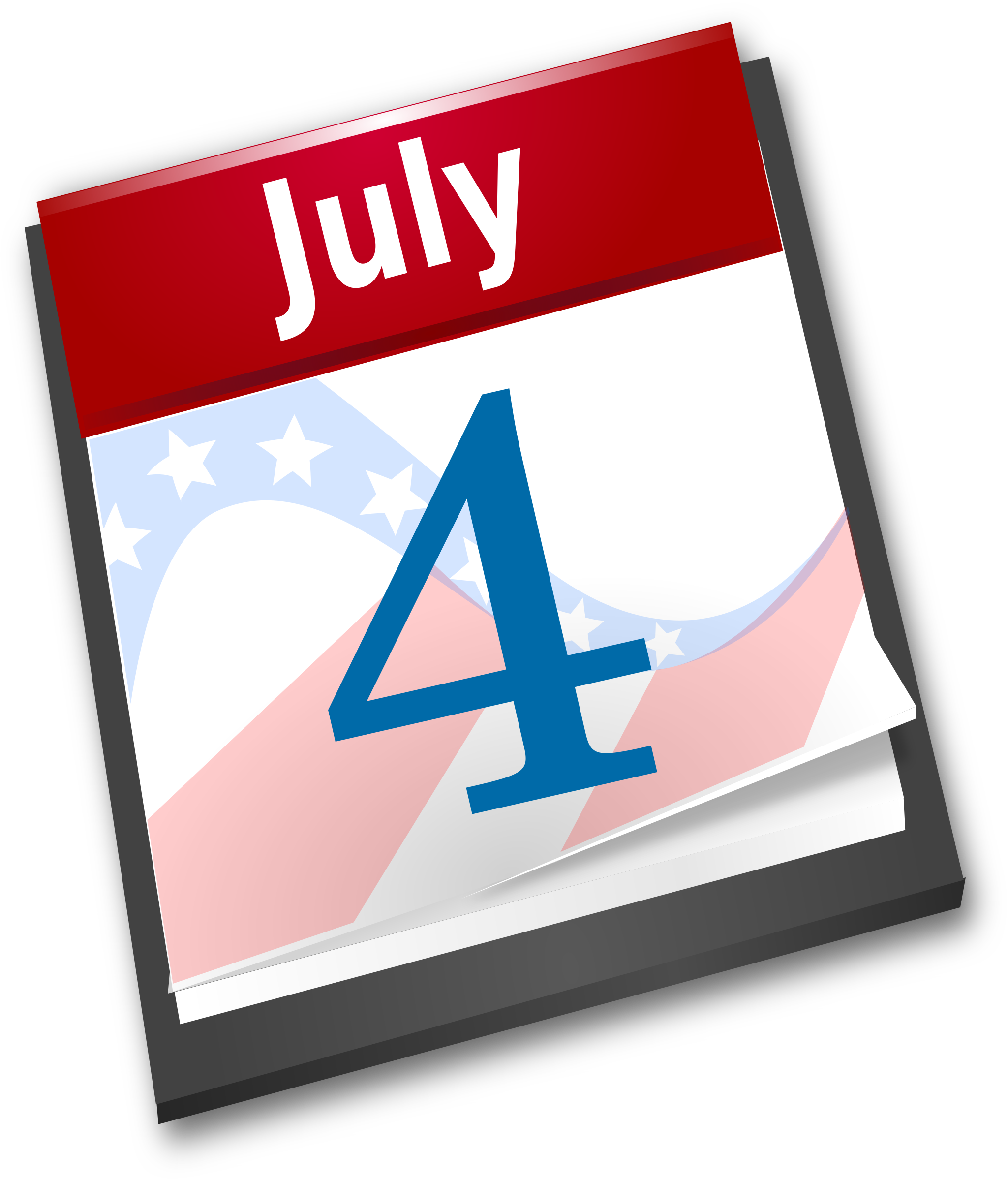 Clip Art Calendar July : Clipart th july calendar