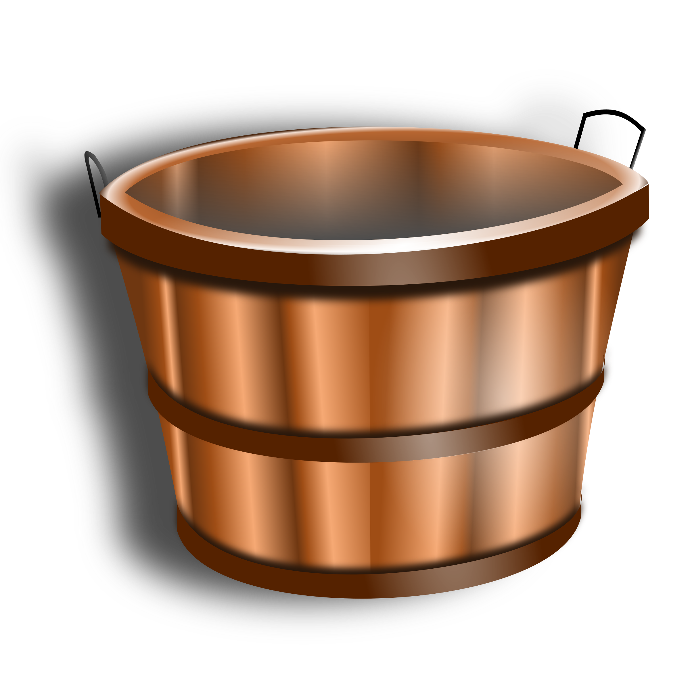 wooden bucket by hatalar205