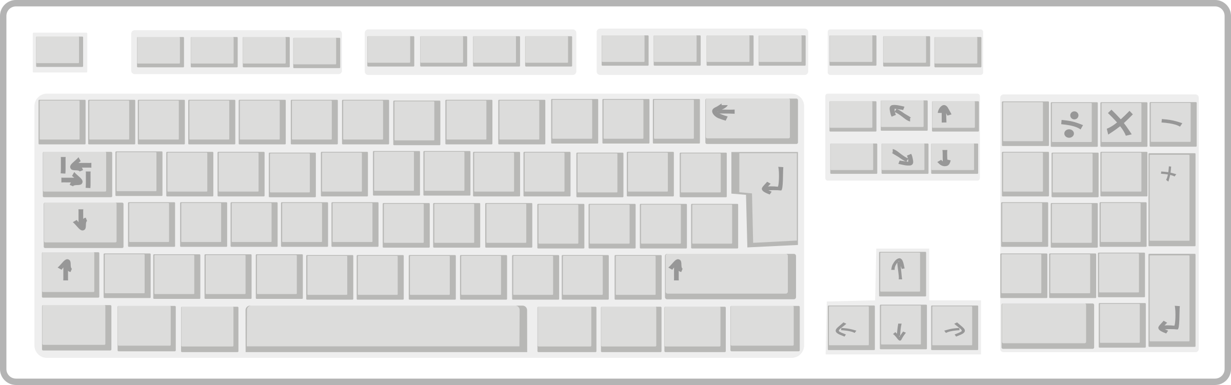 Blank White Keyboard by qubodup