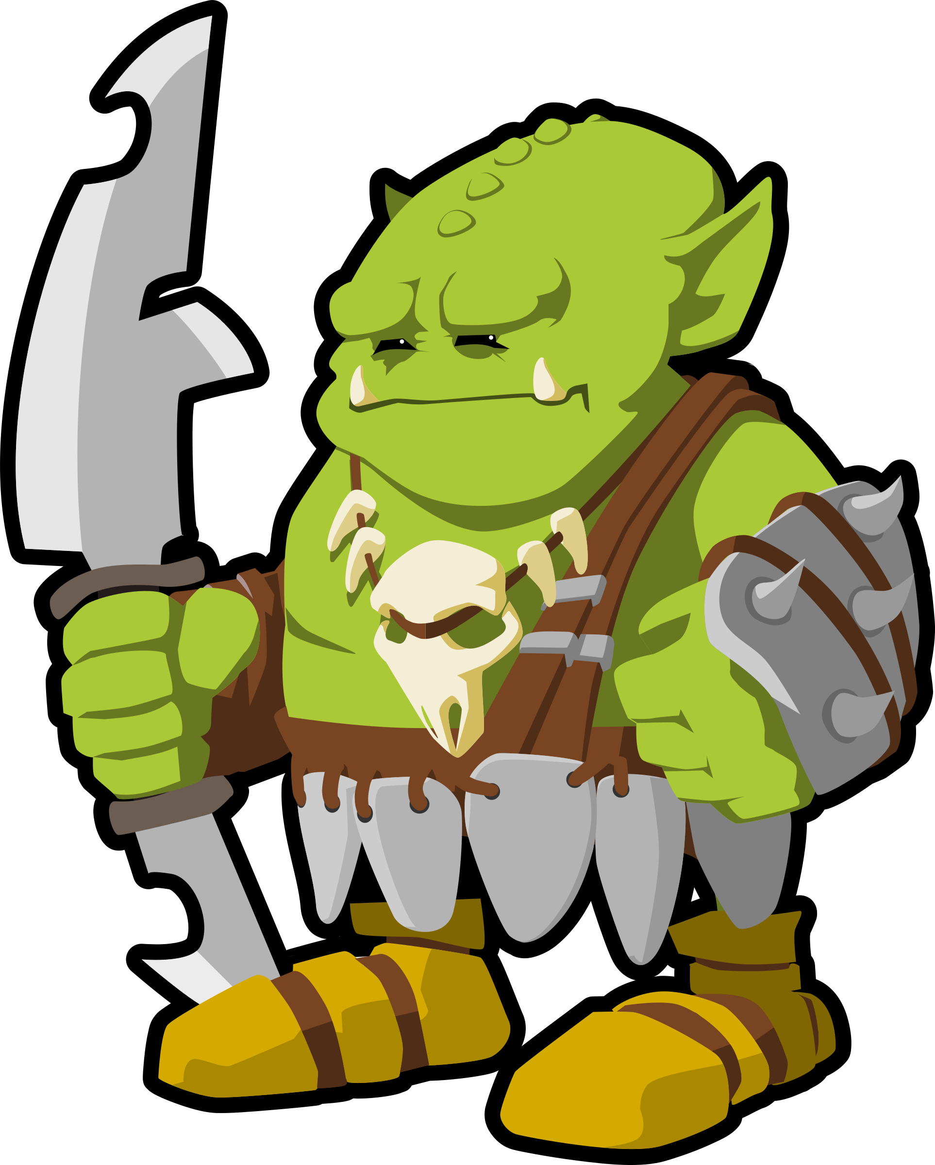 orc warrior by tzunghaor
