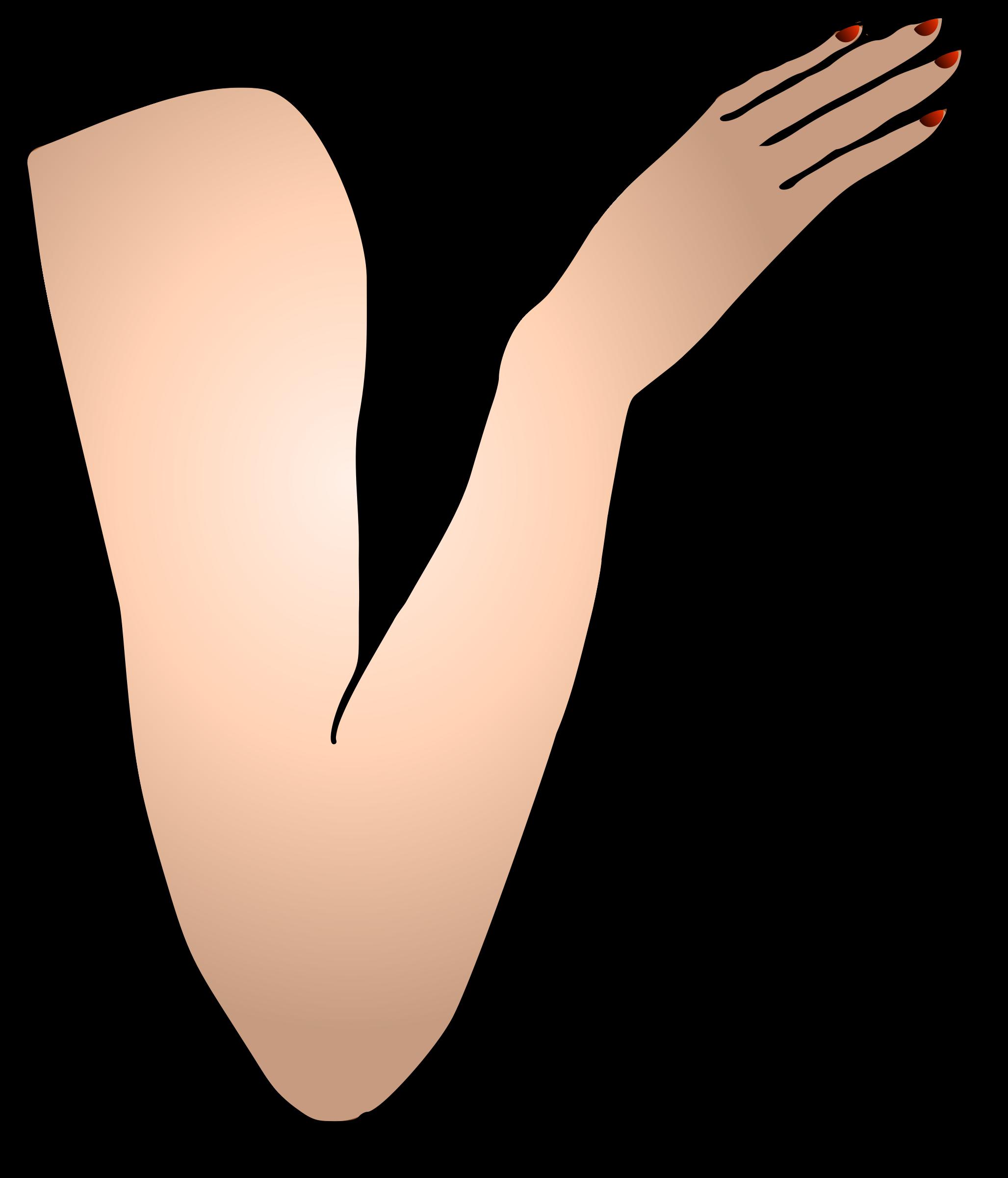 Clipart - St Patricks Girl Right Arm