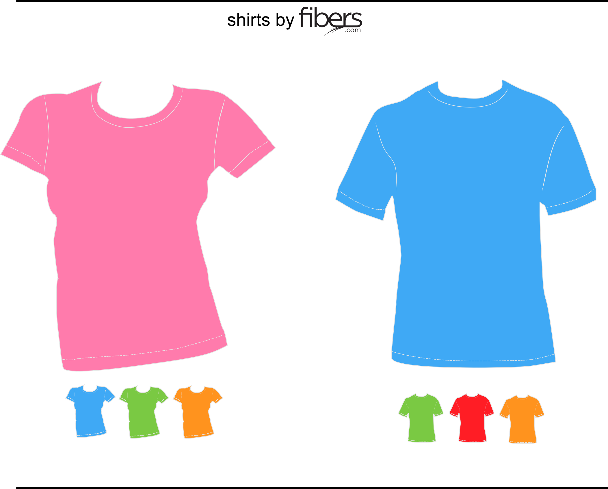 Clipart - Fibers.com Vector T-Shirt Templates
