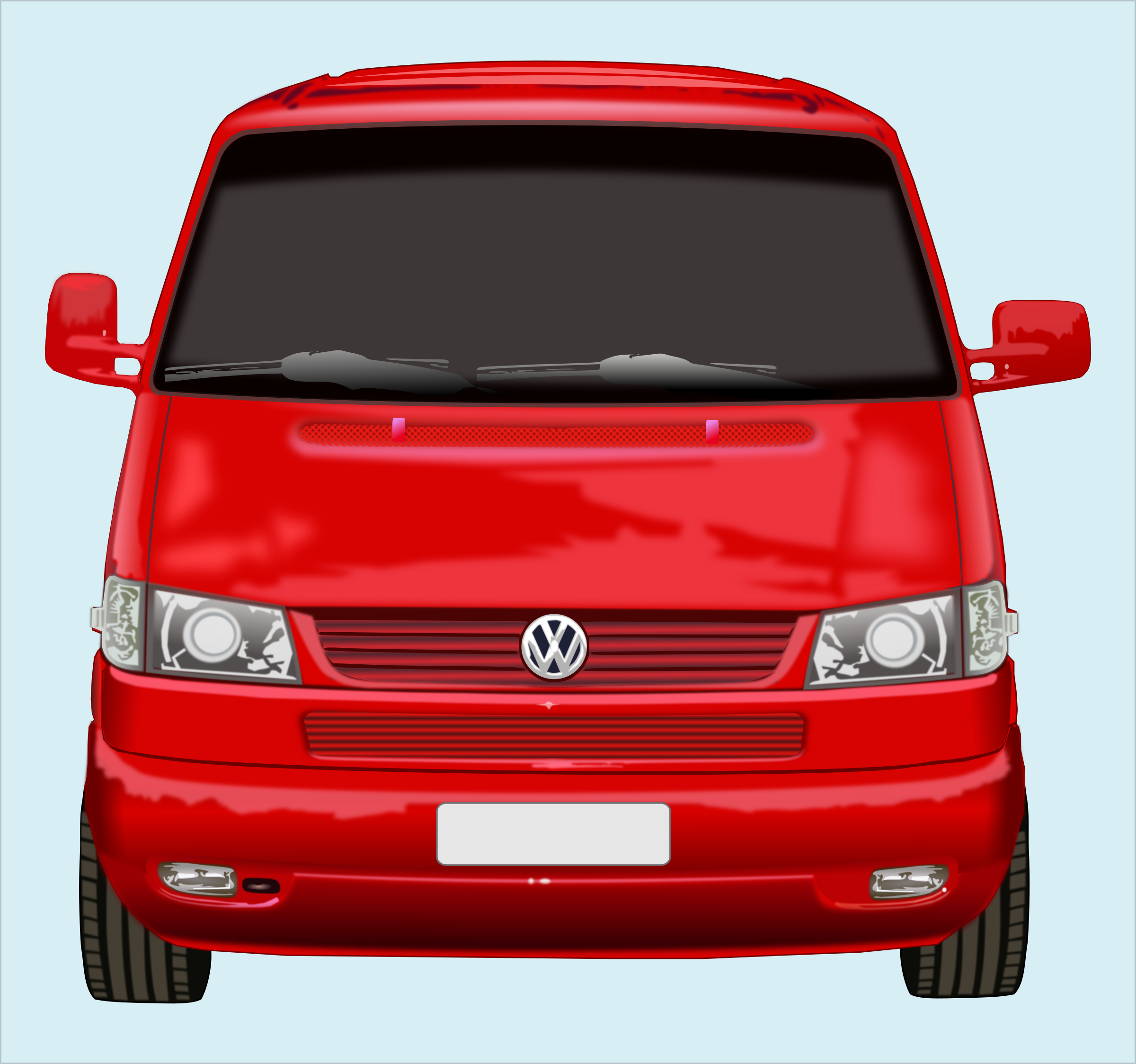 Roter VW-Bus by marauder