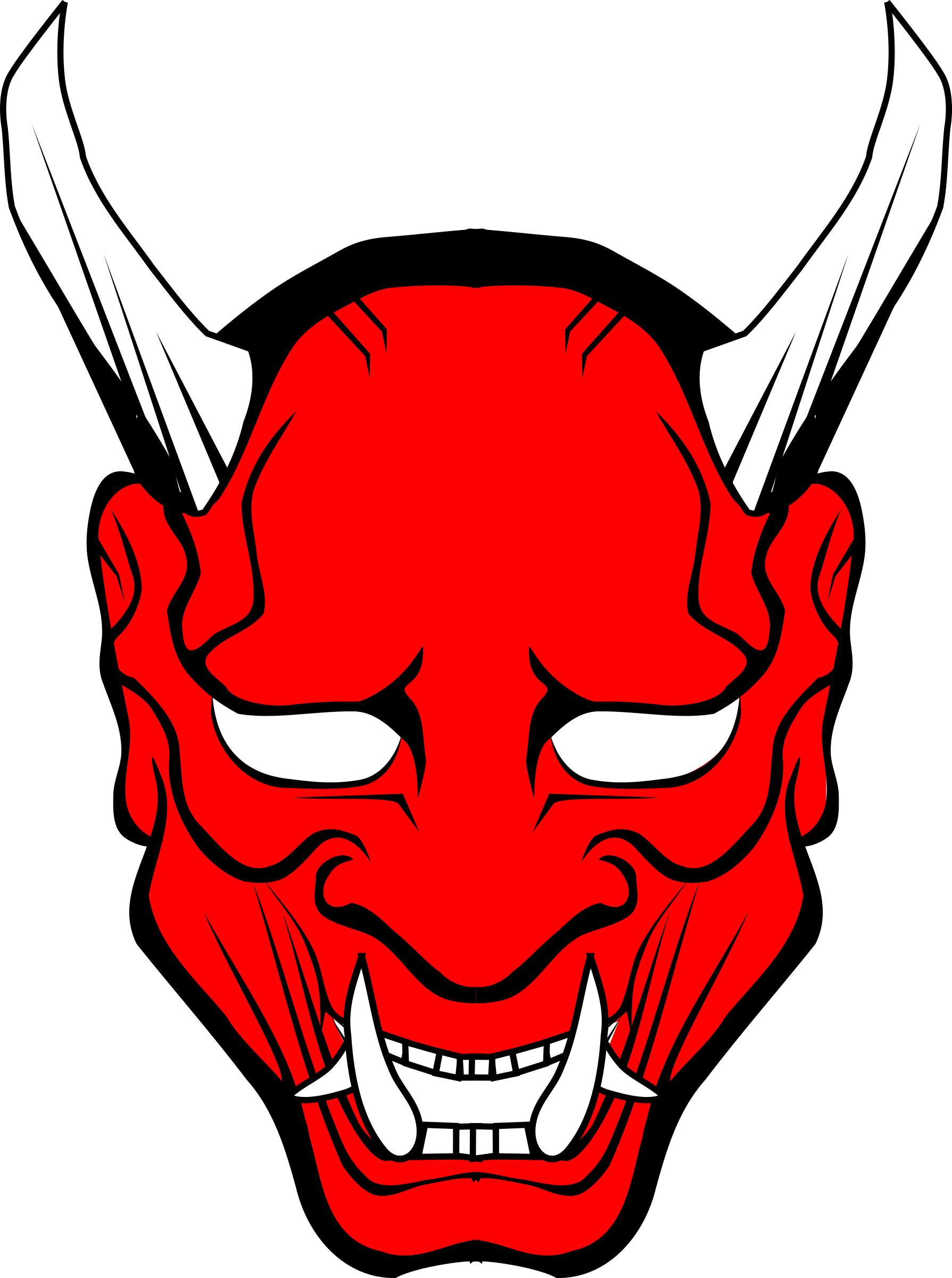 oni mask red  by stilg4r
