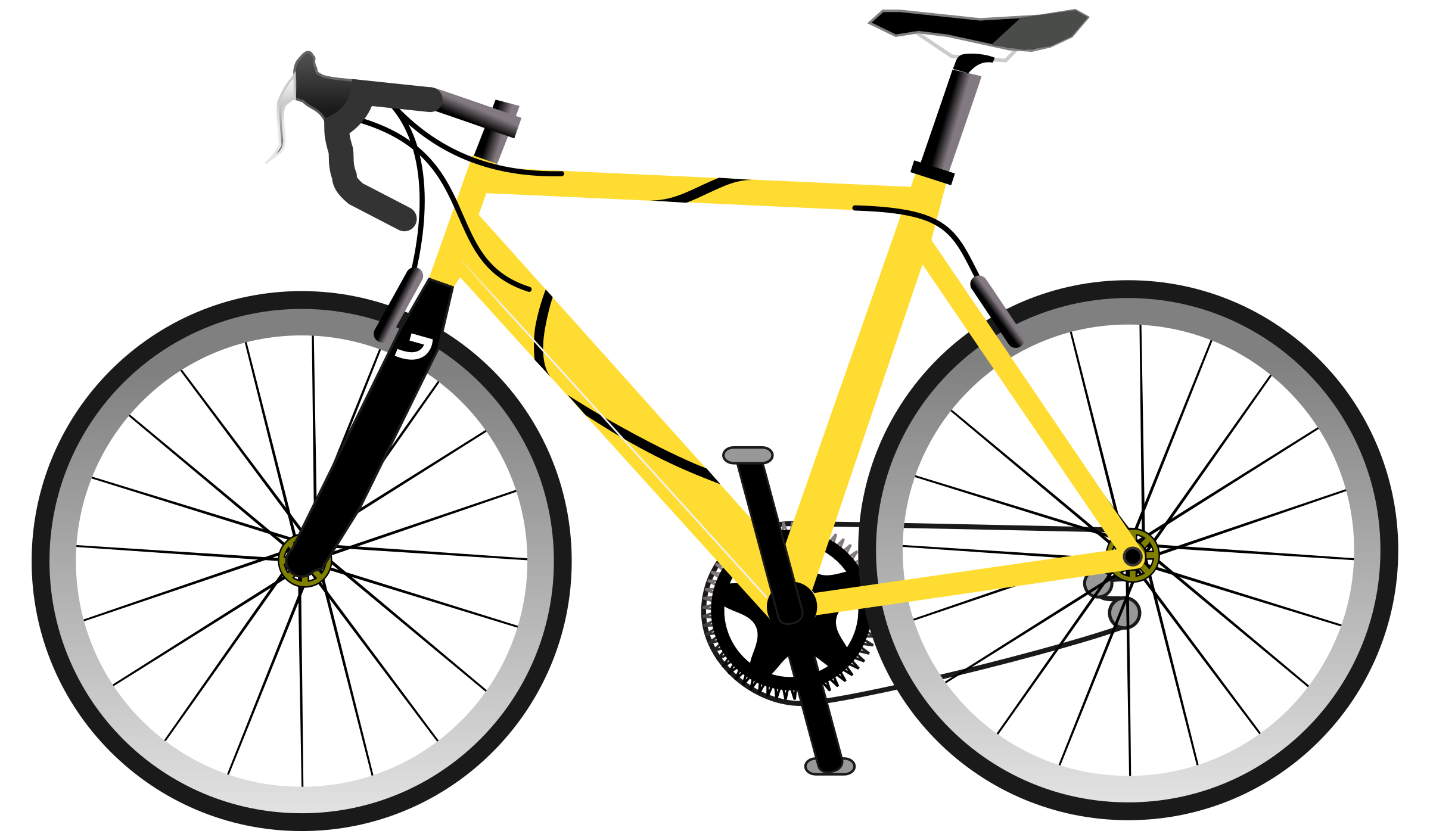 Yellow Speed Bike by bianchessi
