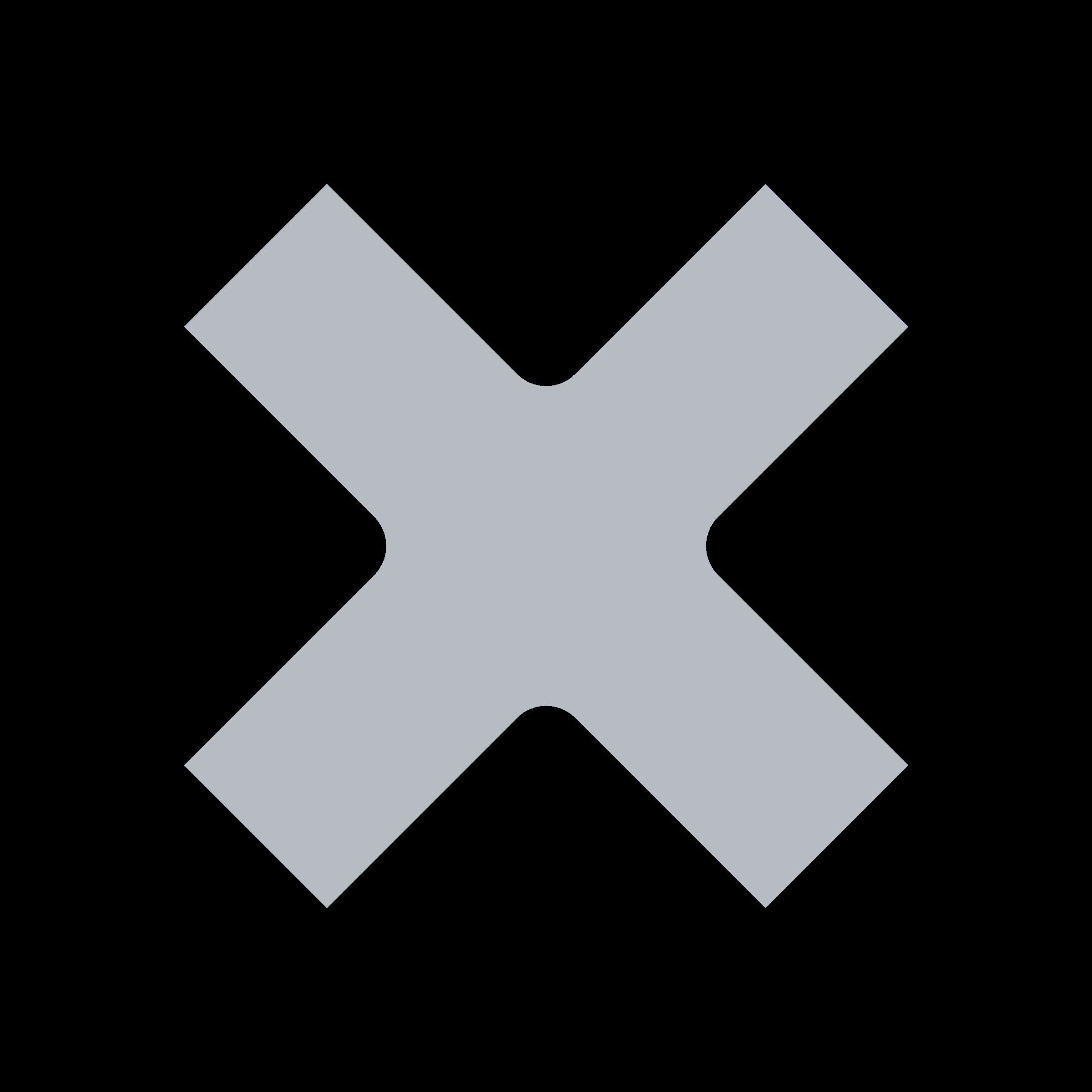 X Icon Gray Clipart - Cross icon