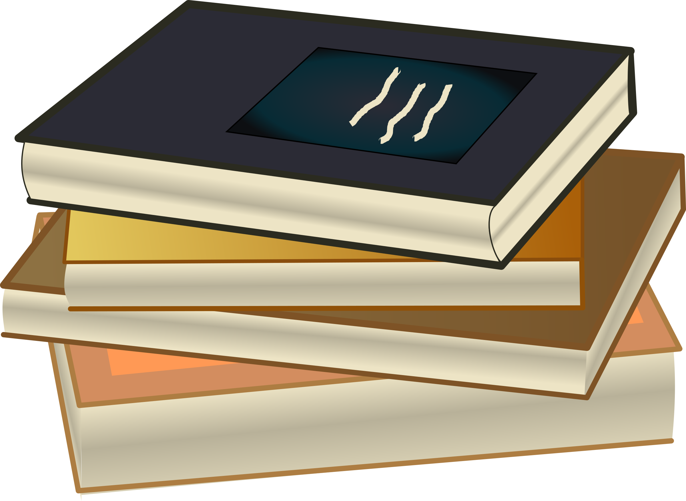 Book Stack - Pile de livres by cyberscooty
