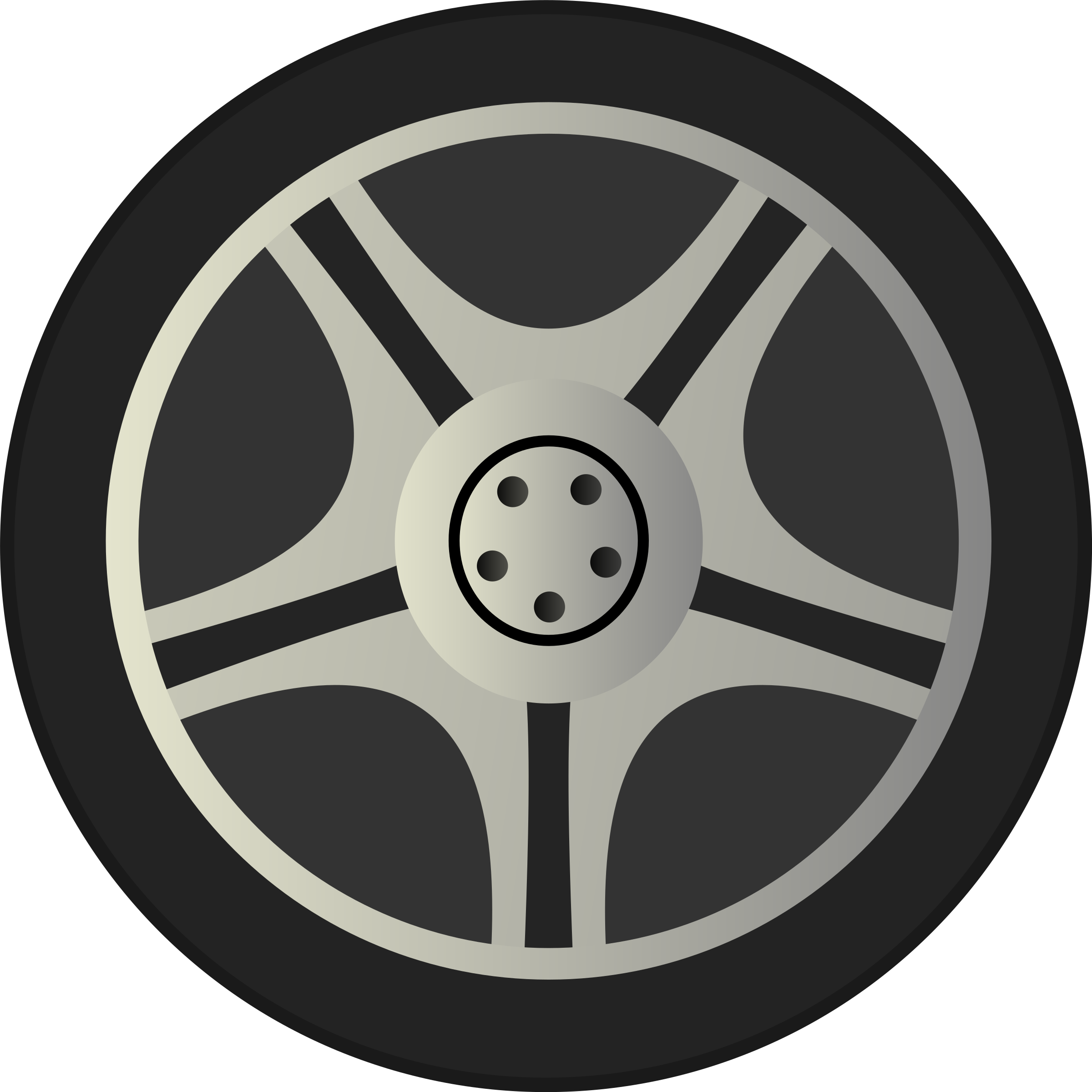 Simple Car Wheel Tire Rims Side View by qubodup