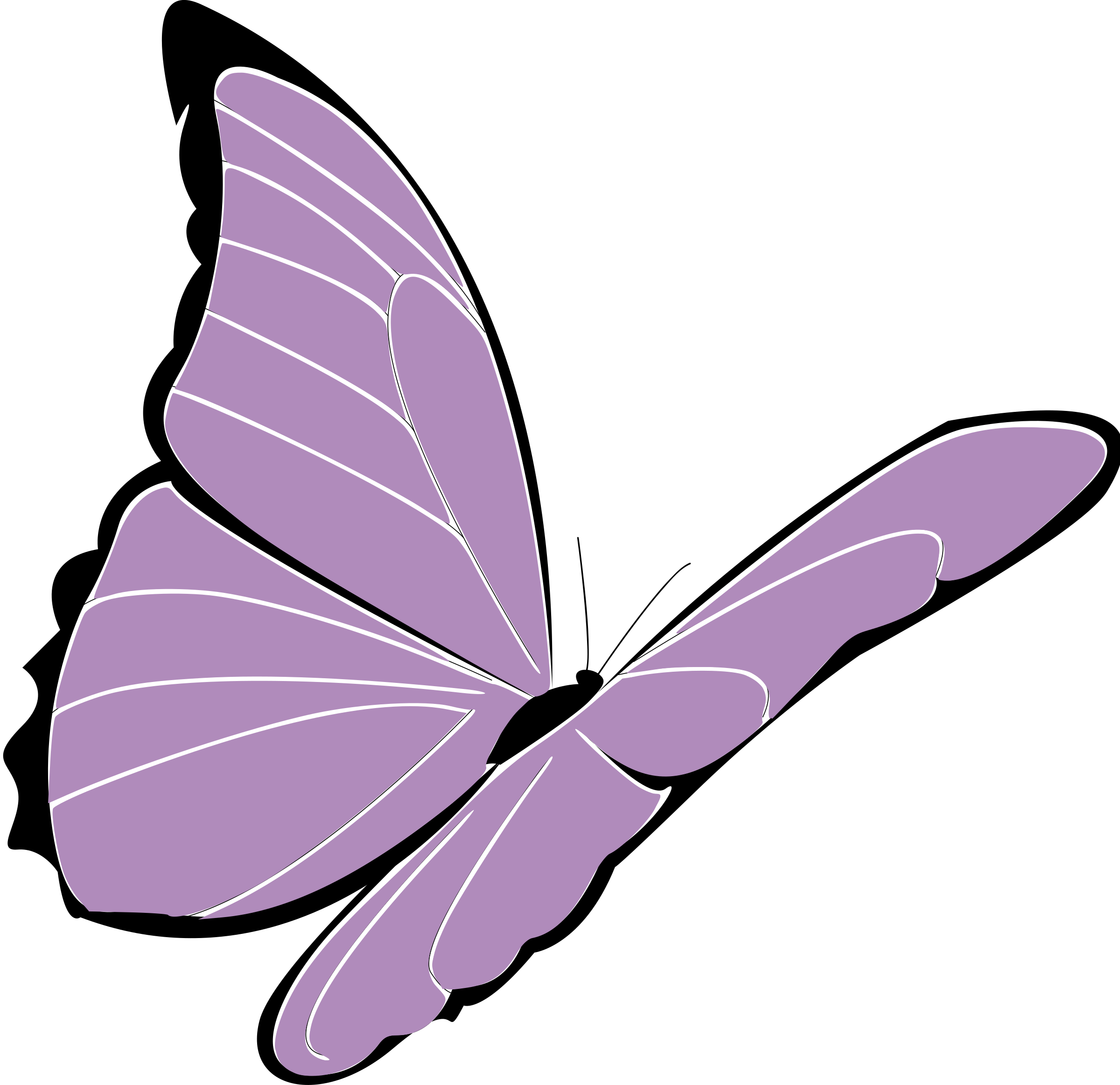 purple butterfly by presquesage