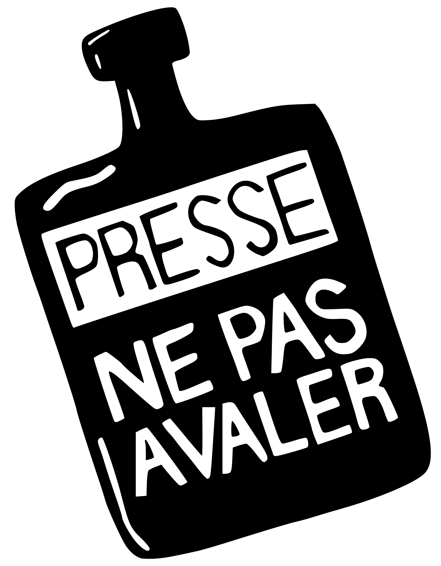 Presse ne pas avaler (Press : don't swallow) by ben