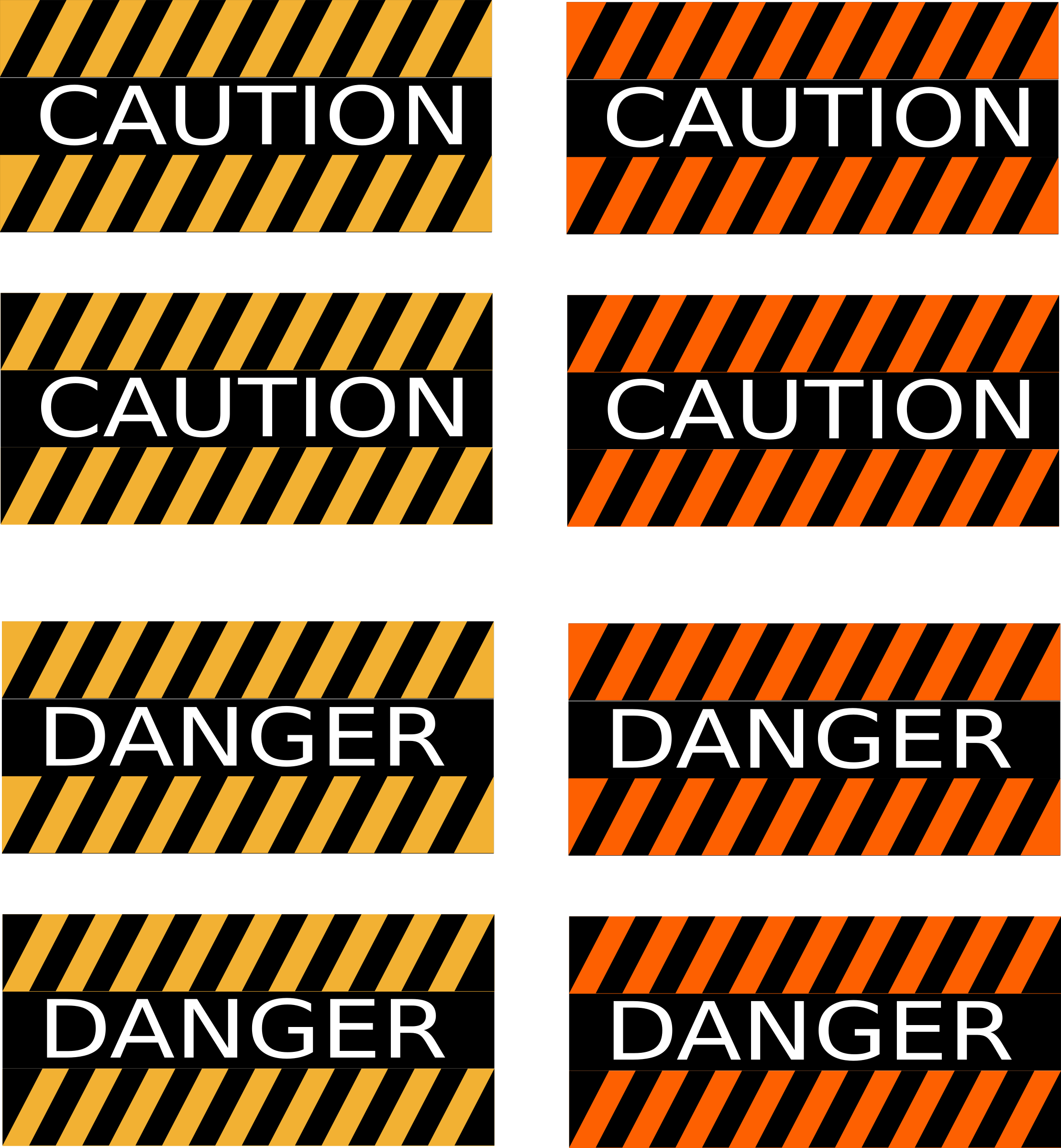 Caution and Danger Signs by Rfc1394