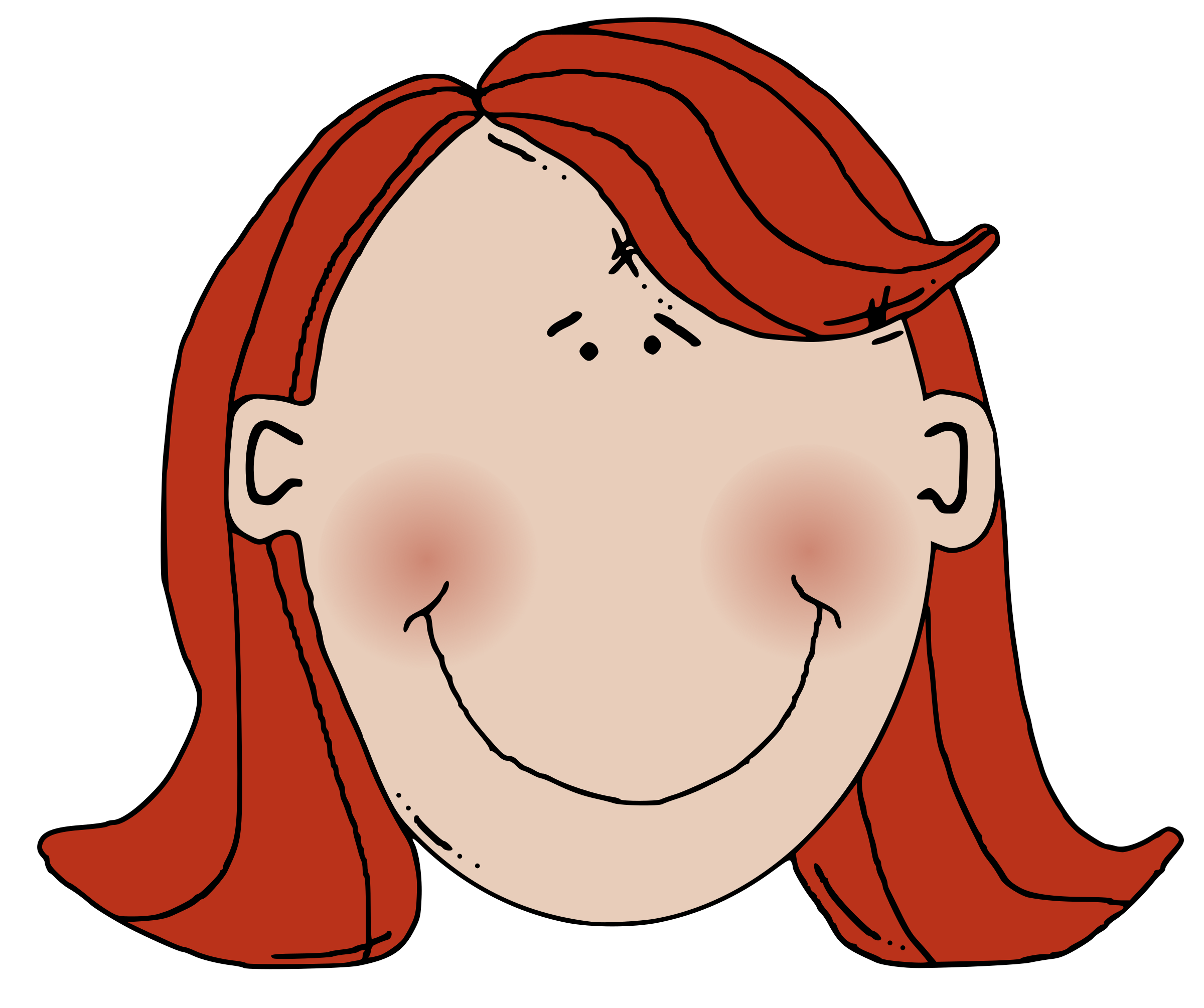 Womans face with red hair by zeimusu