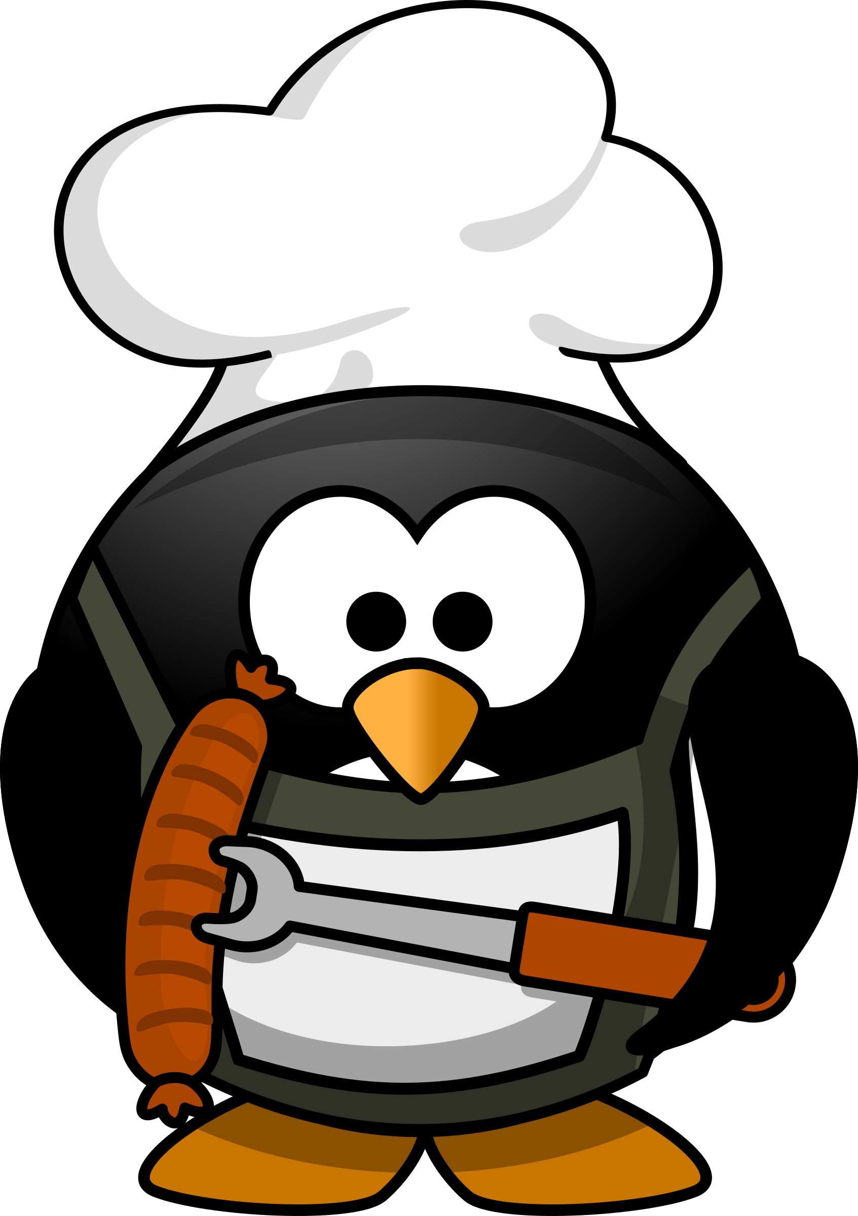 Grilling penguin  by dodger2