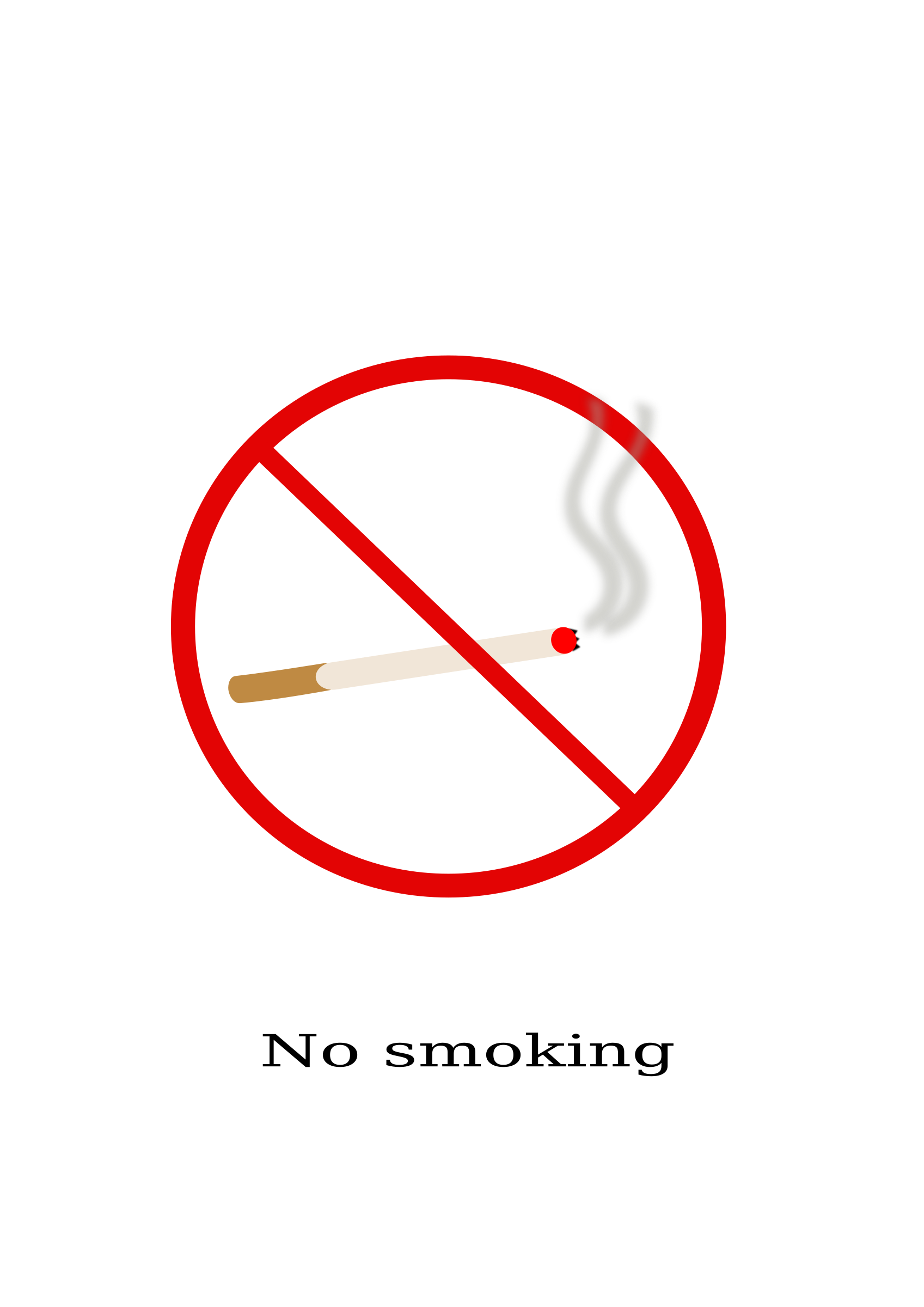 Warning sign - No smoking by ksrujana96