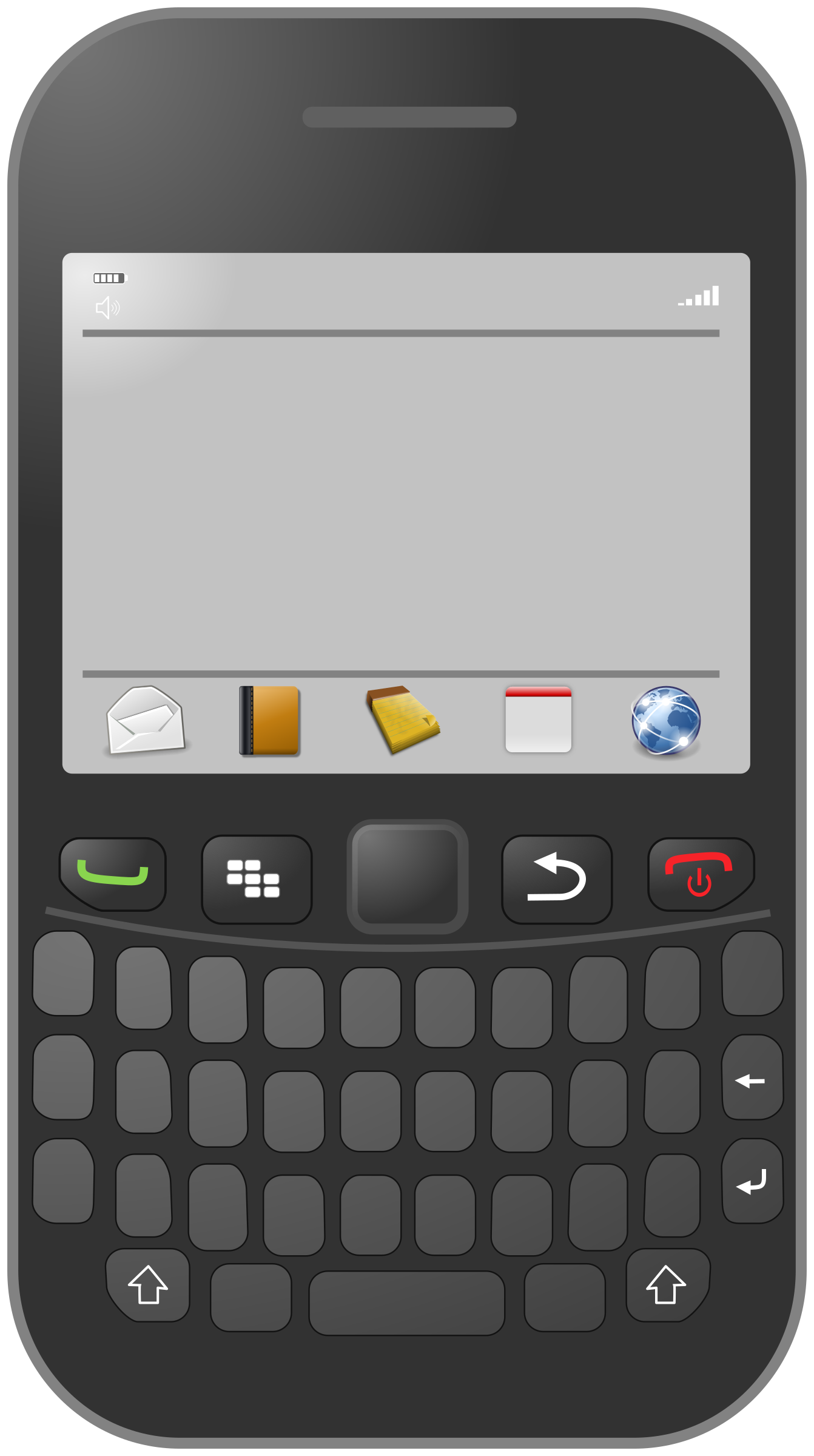 Smartphone with azerty keyboard by cyberscooty