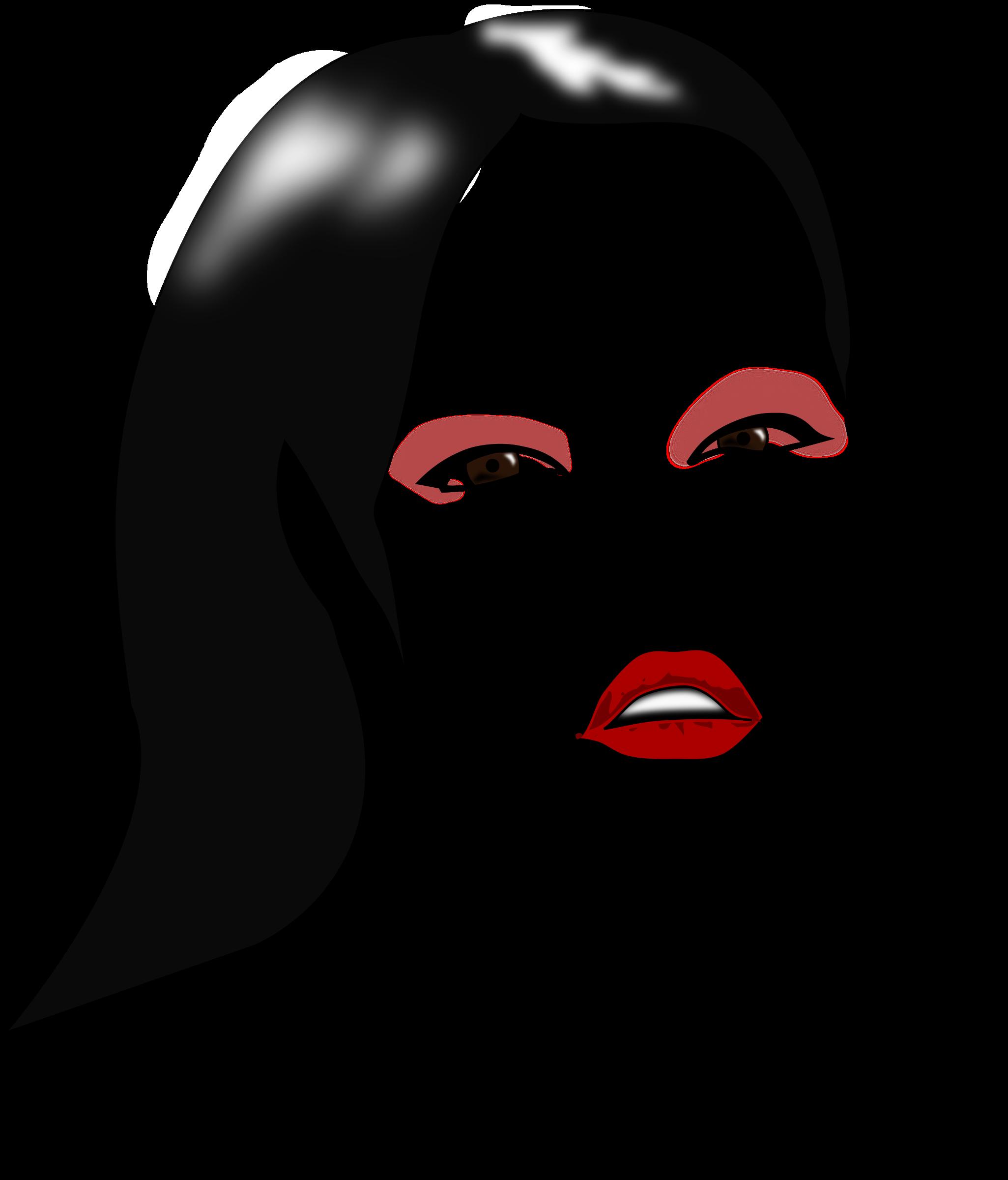 Clipart - Model Makeup