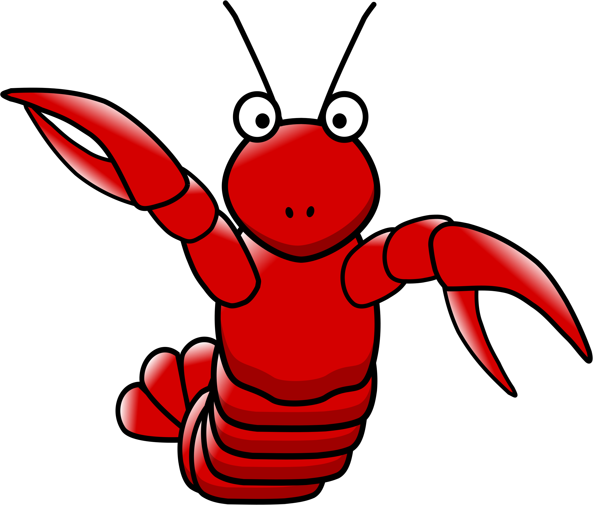 cartoon lobster by hatso1
