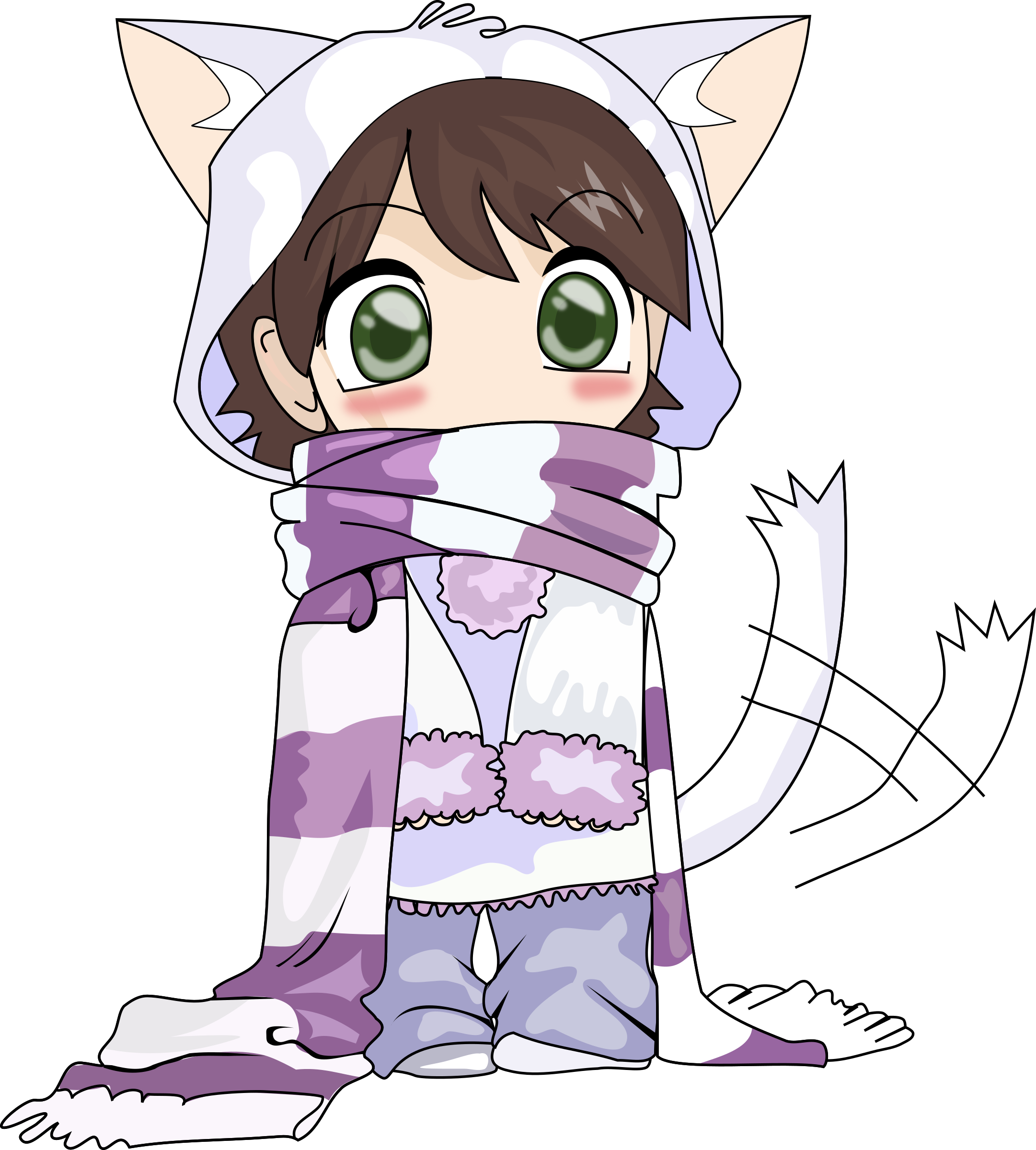 chibi - neko  by stilg4r