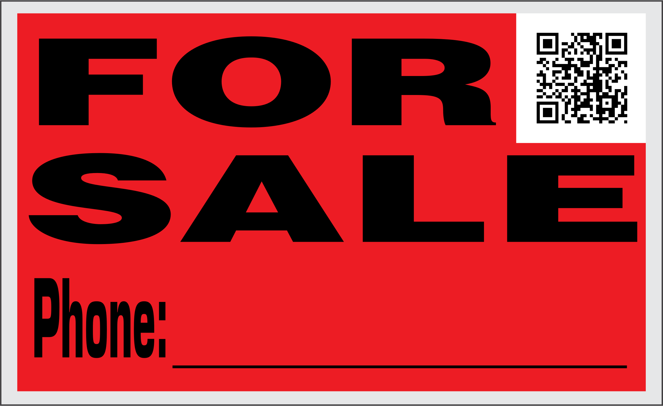 For Sale Sign with QR Code by jhnri4