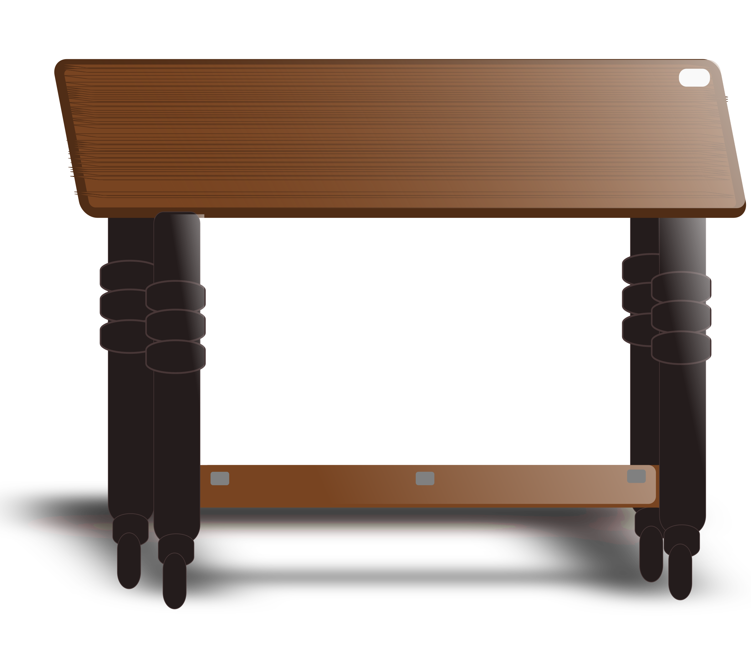 Teak Top Table by lpr577