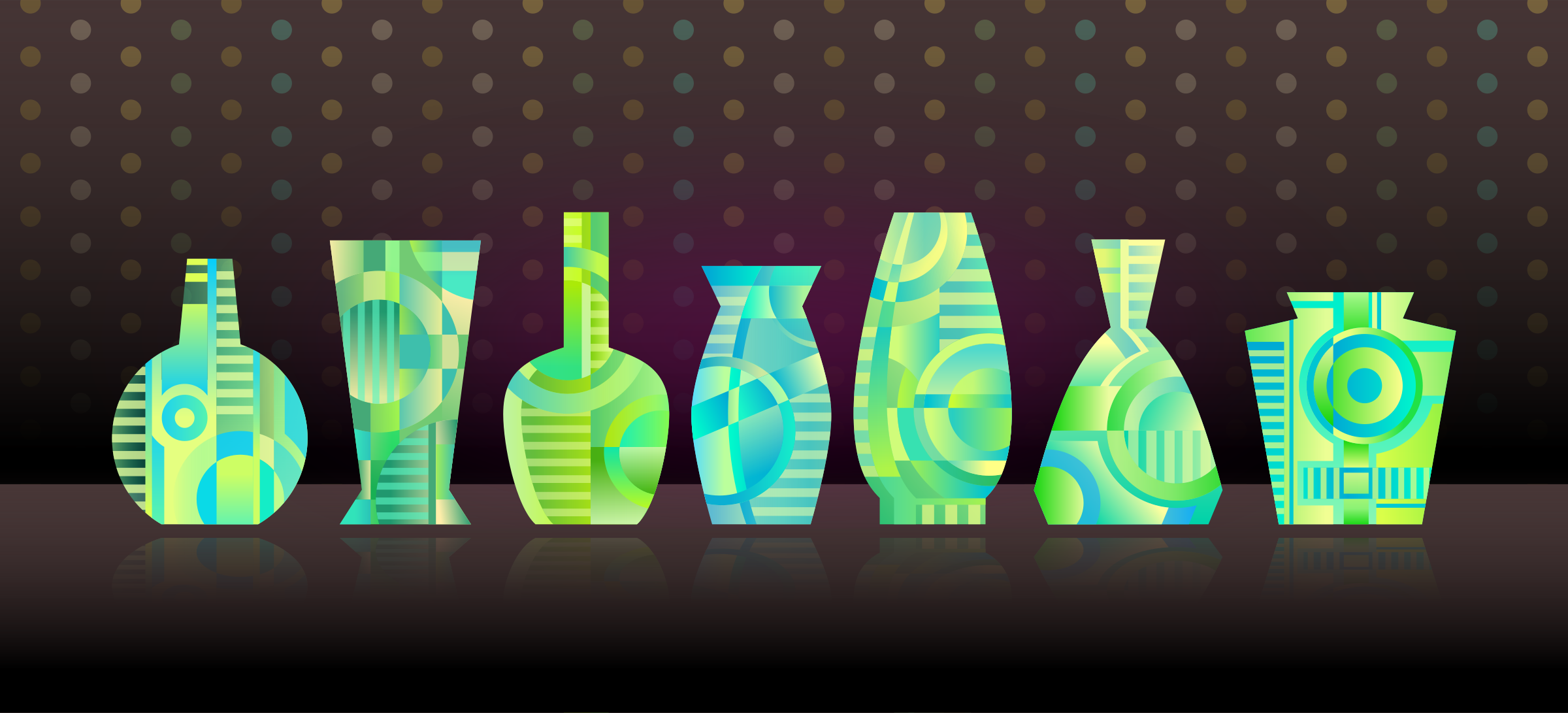 Abstract Vases by Viscious-Speed