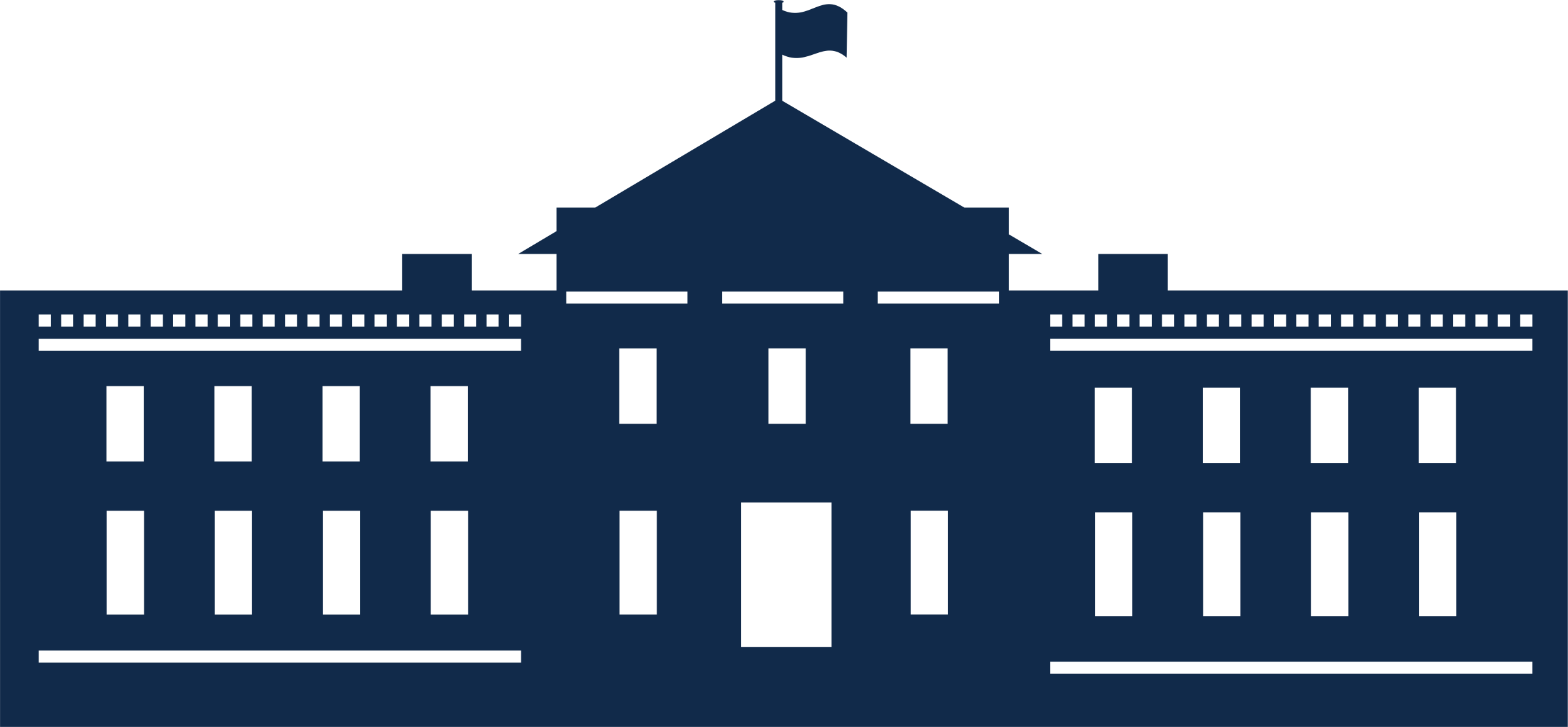 Line Art House Png : Clipart whitehouse silhouette