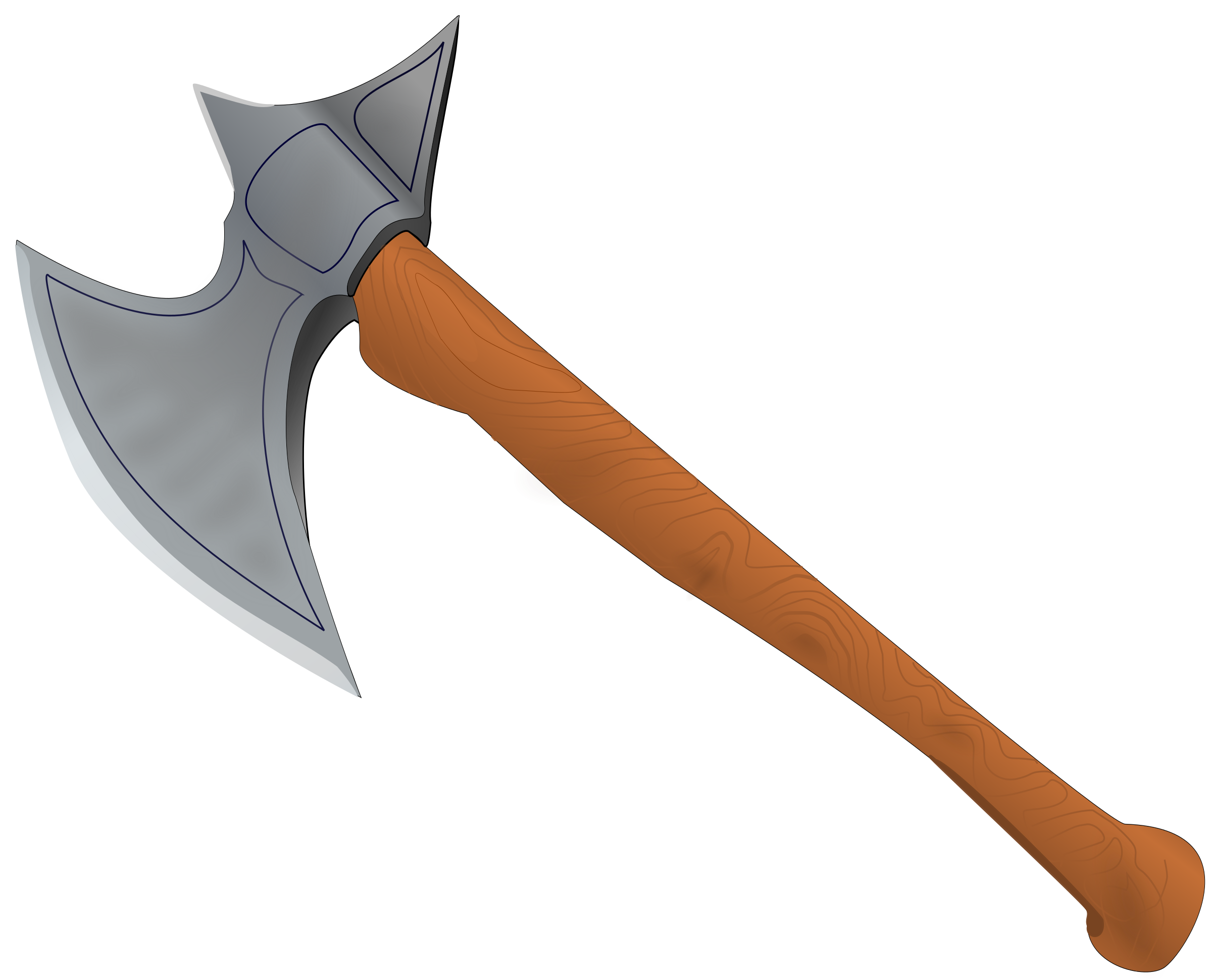 Battle axe medieval by StefanvonHalenbach