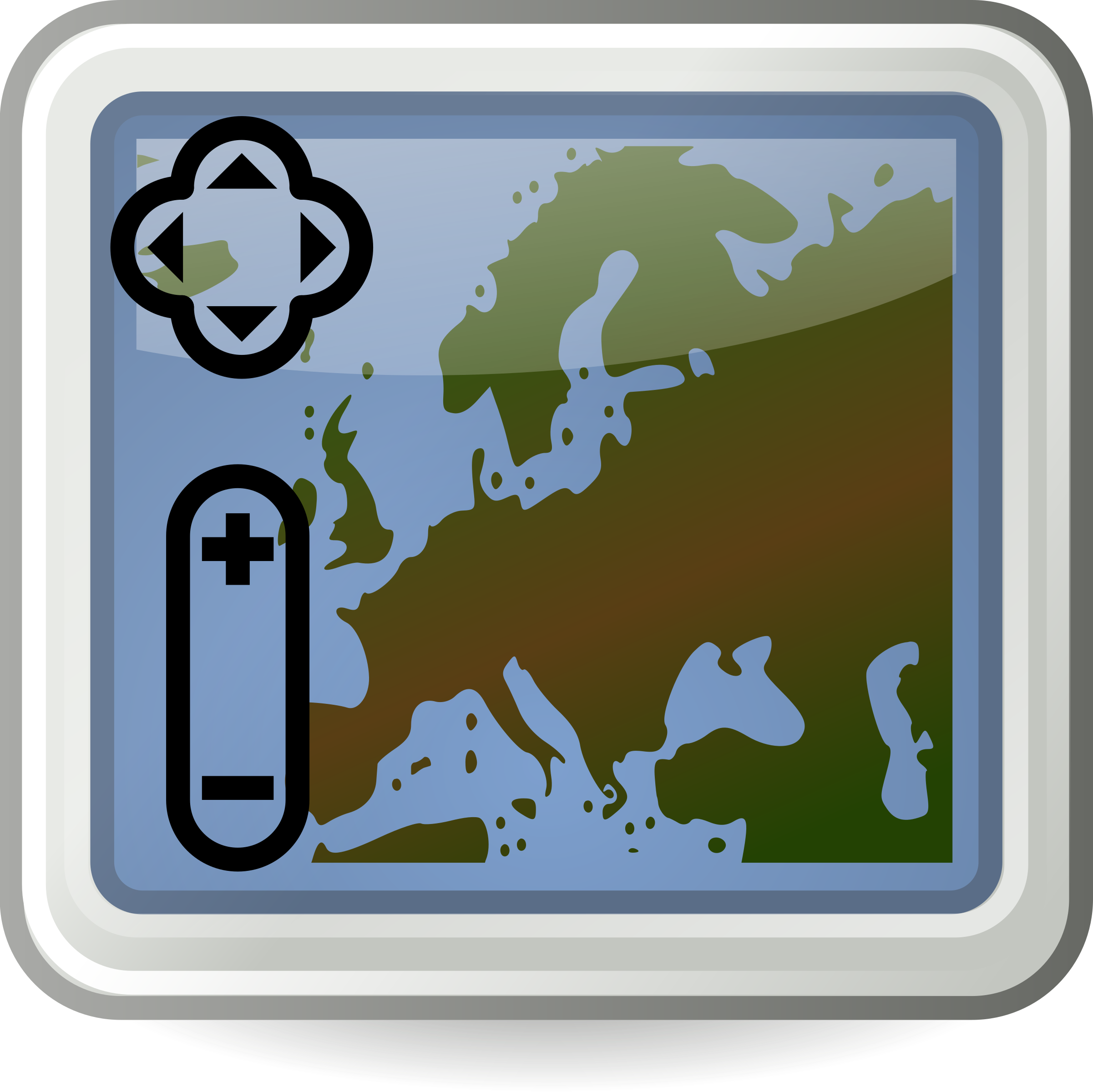 Tango style map application icon by flooredmusic