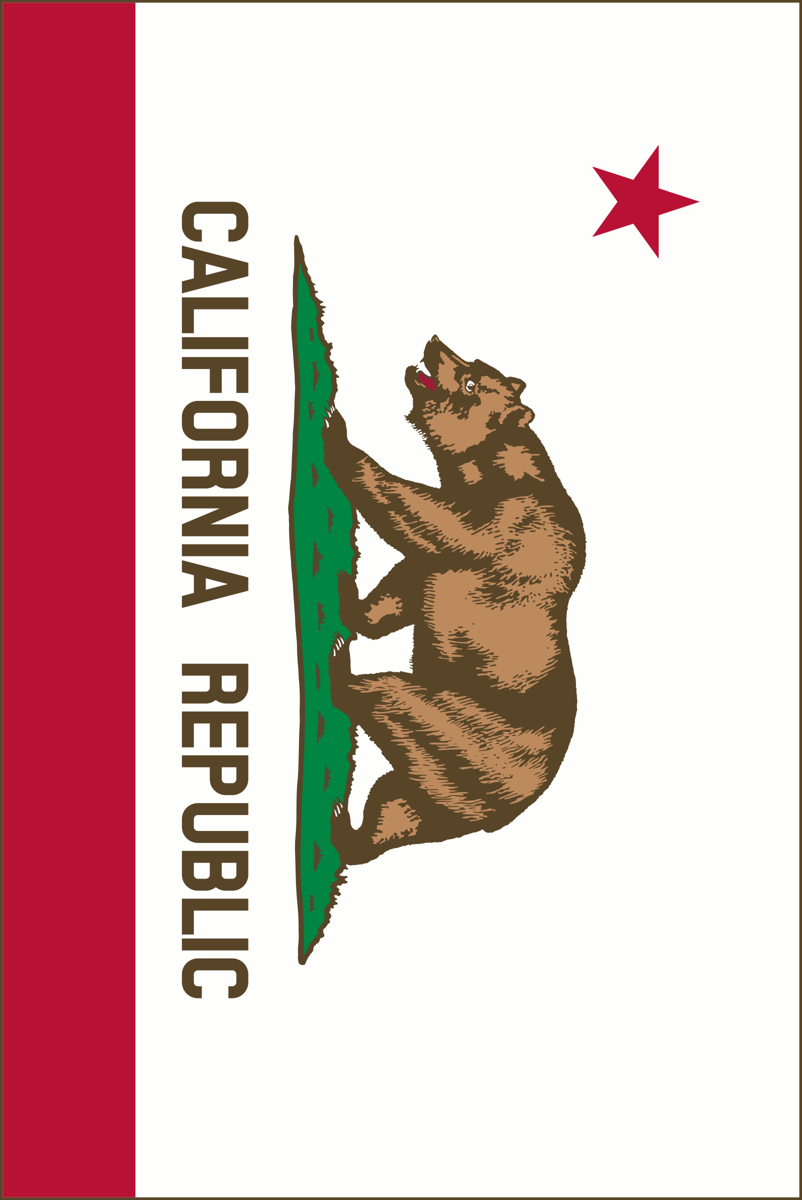 Flag of California (Vertical, thin border) by DevinCook