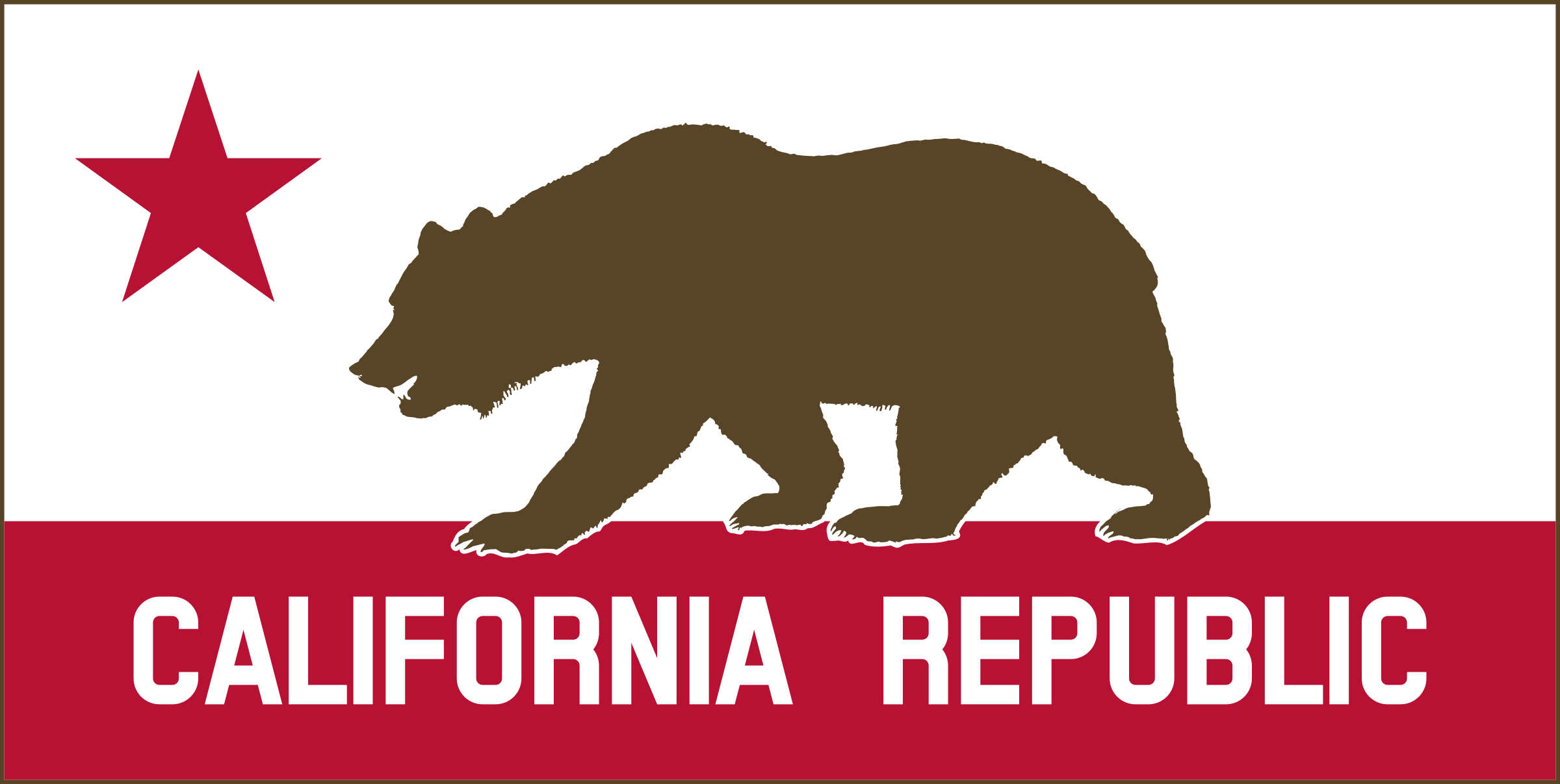 California Banner Clipart A (Solid) by DevinCook