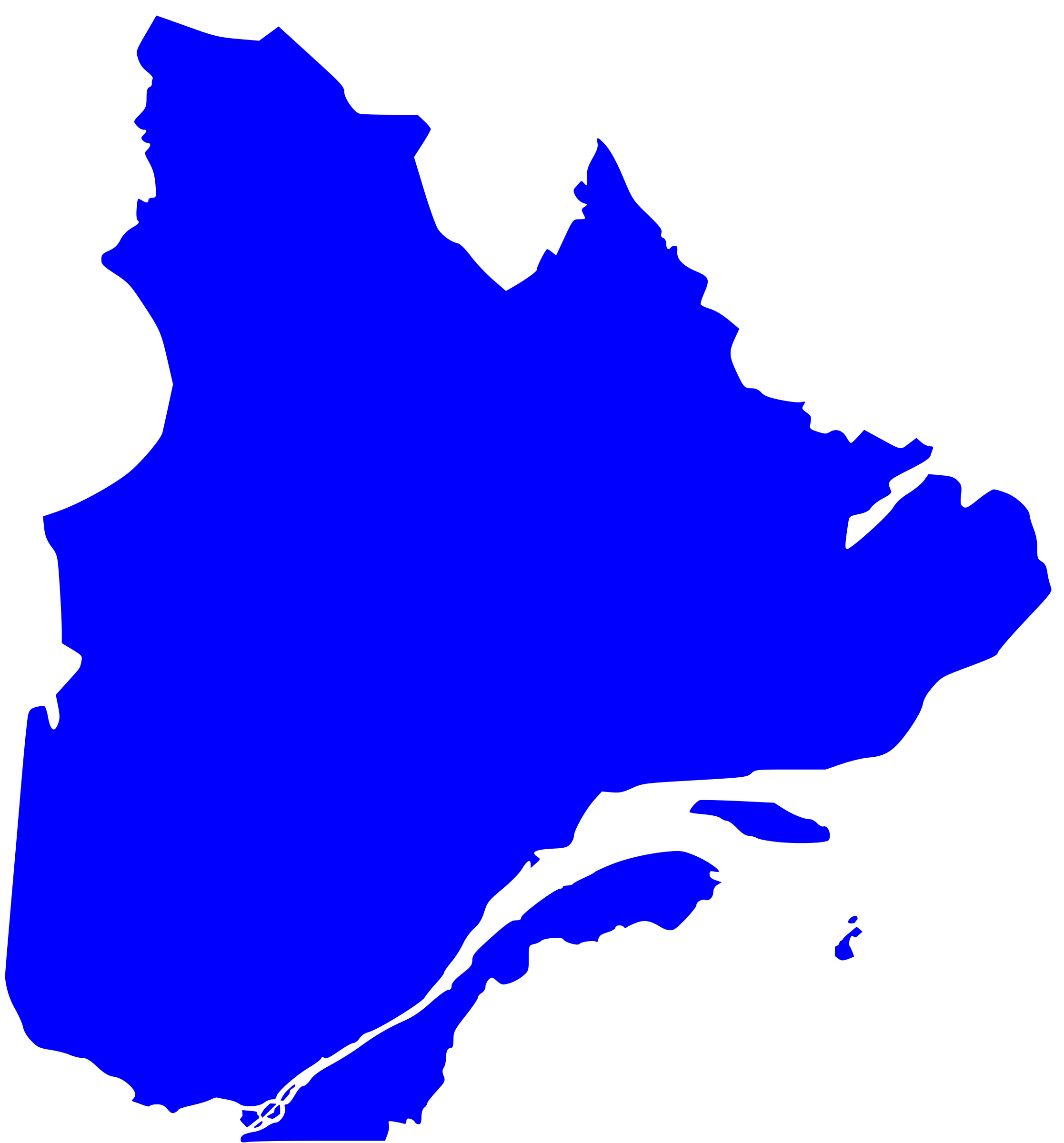 quebec map. clipart  quebec map