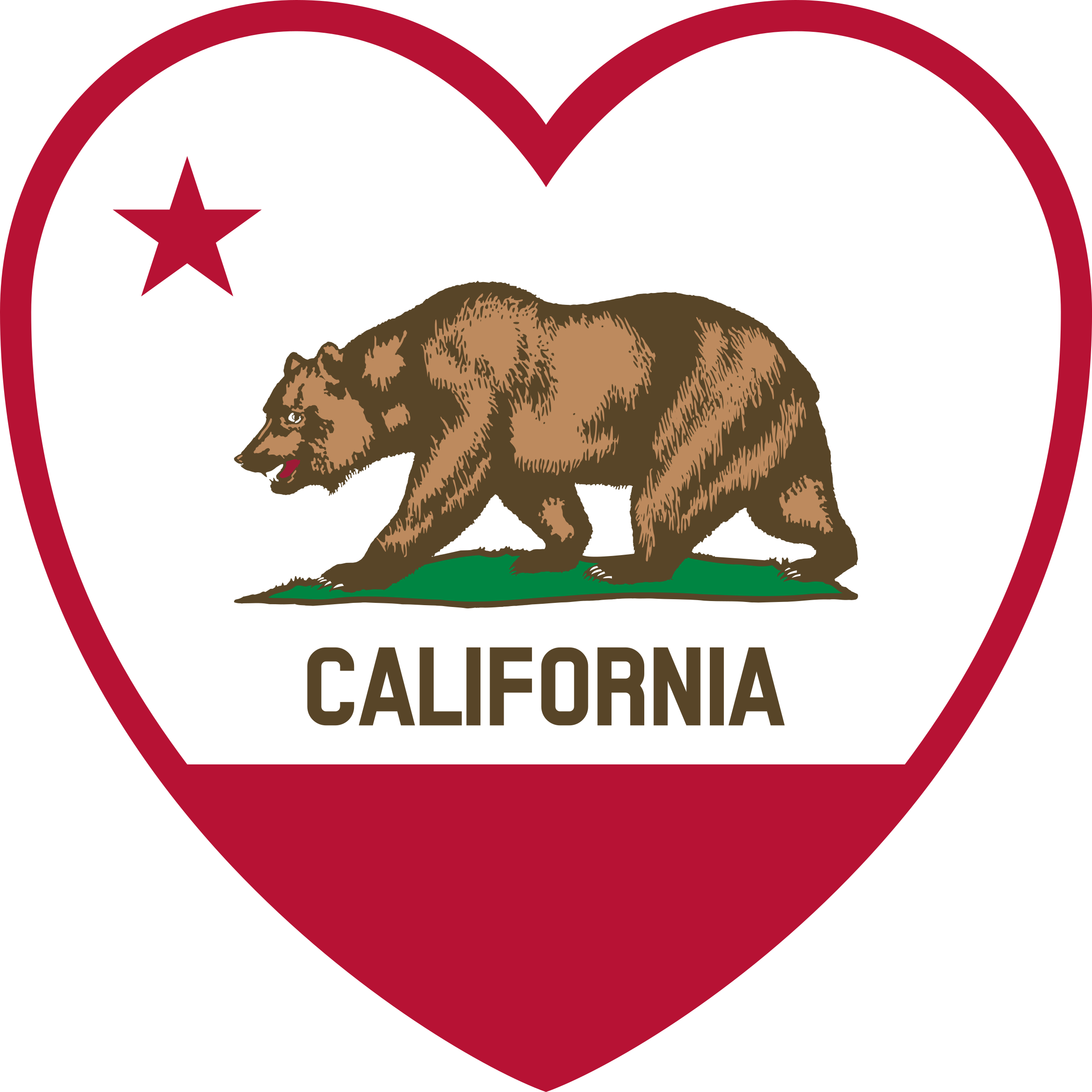 California Flag Heart by DevinCook