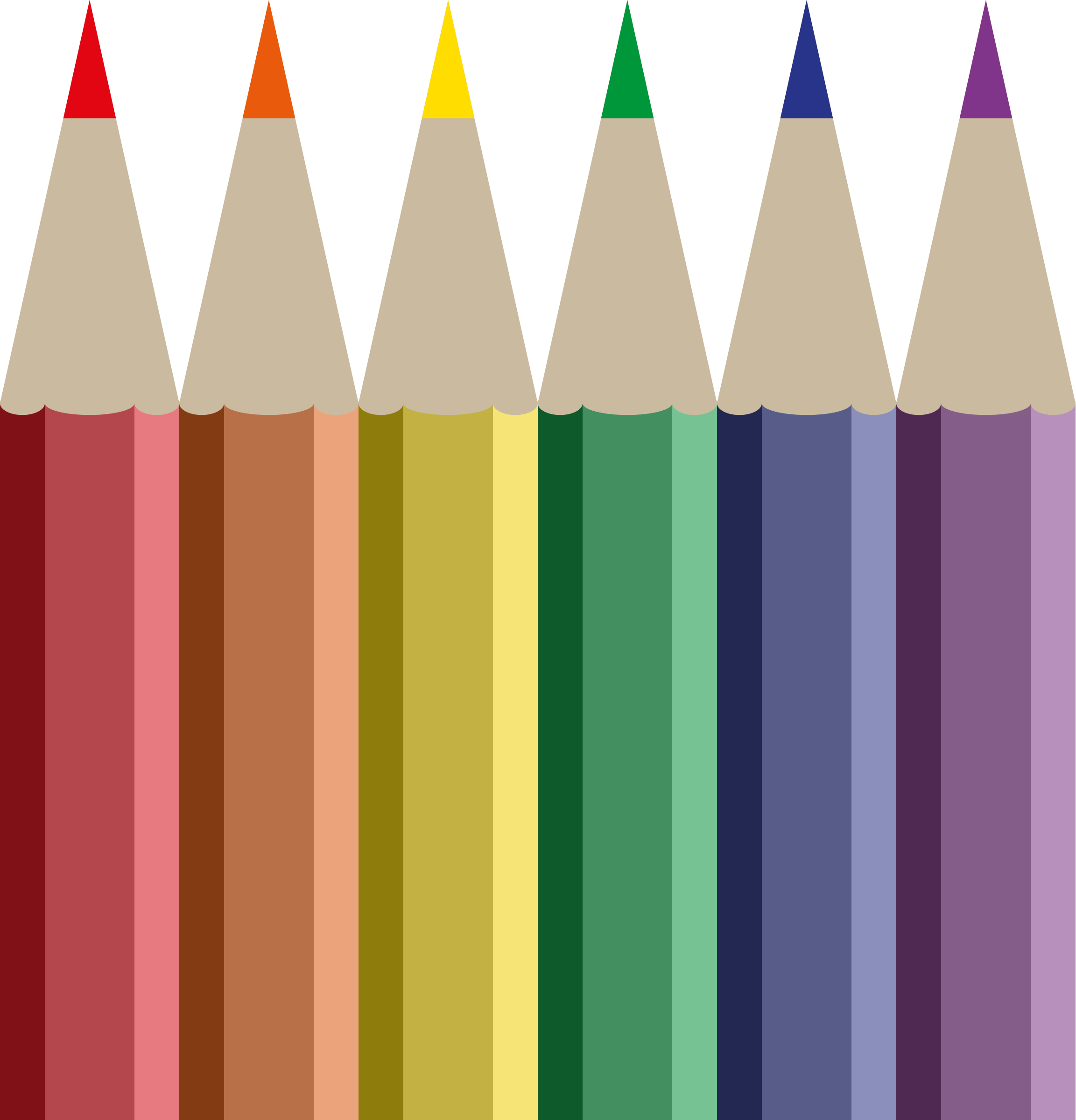 Clipart - Coloured Pencils