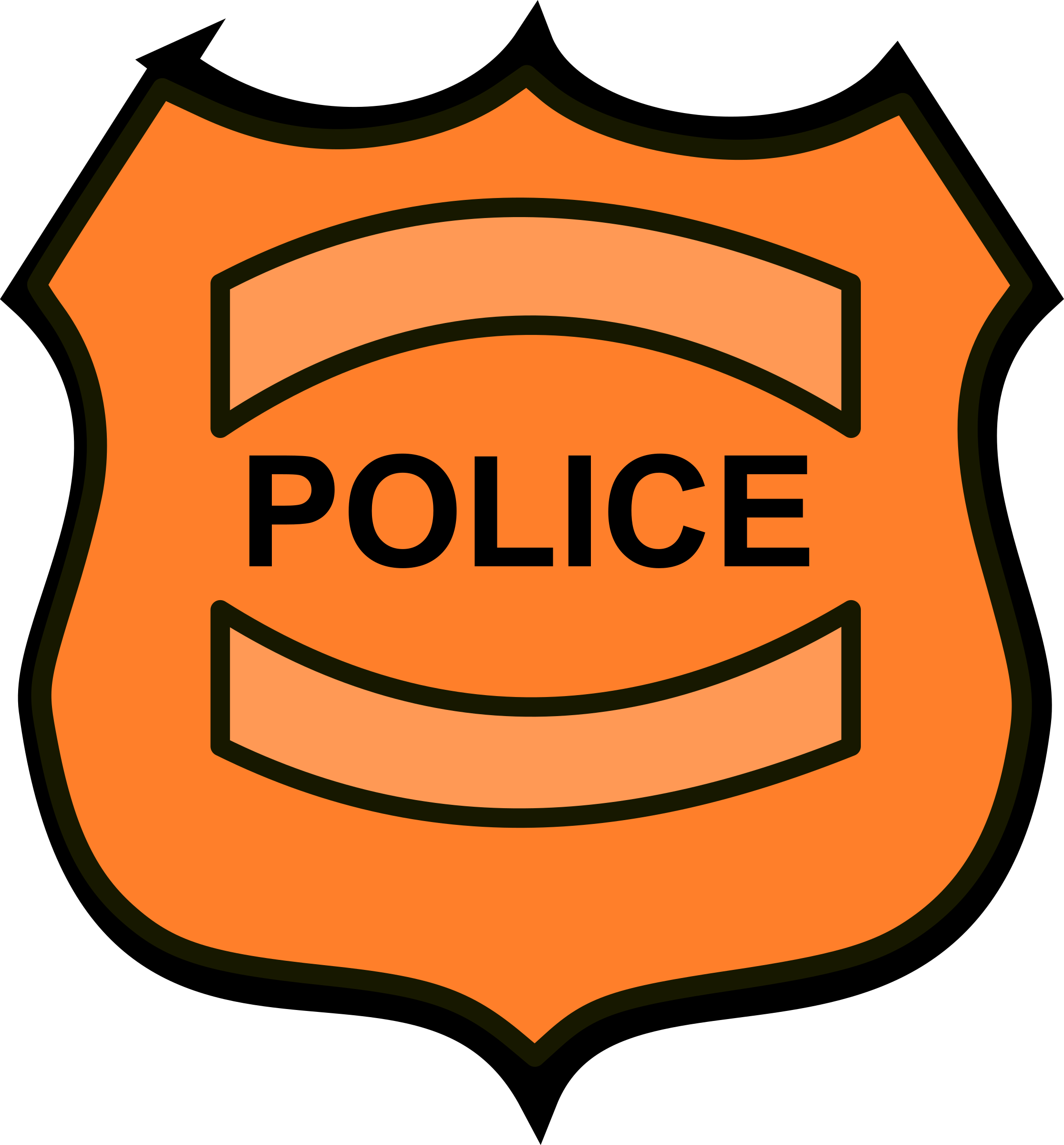 clipart police badge rh openclipart org badger clipart sleep badger clip art black and white