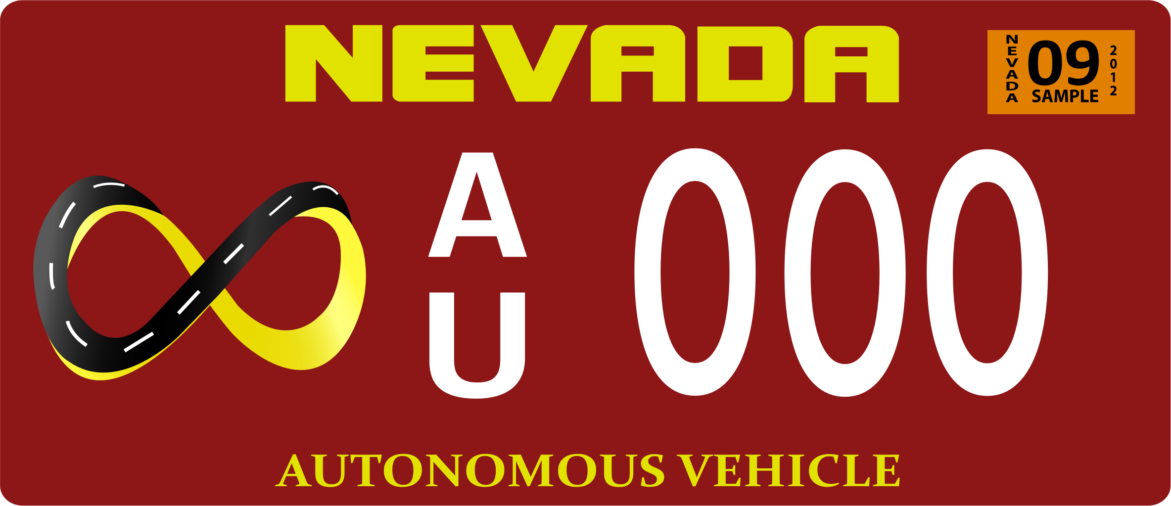Vehicle Registration Plate by Gushchin
