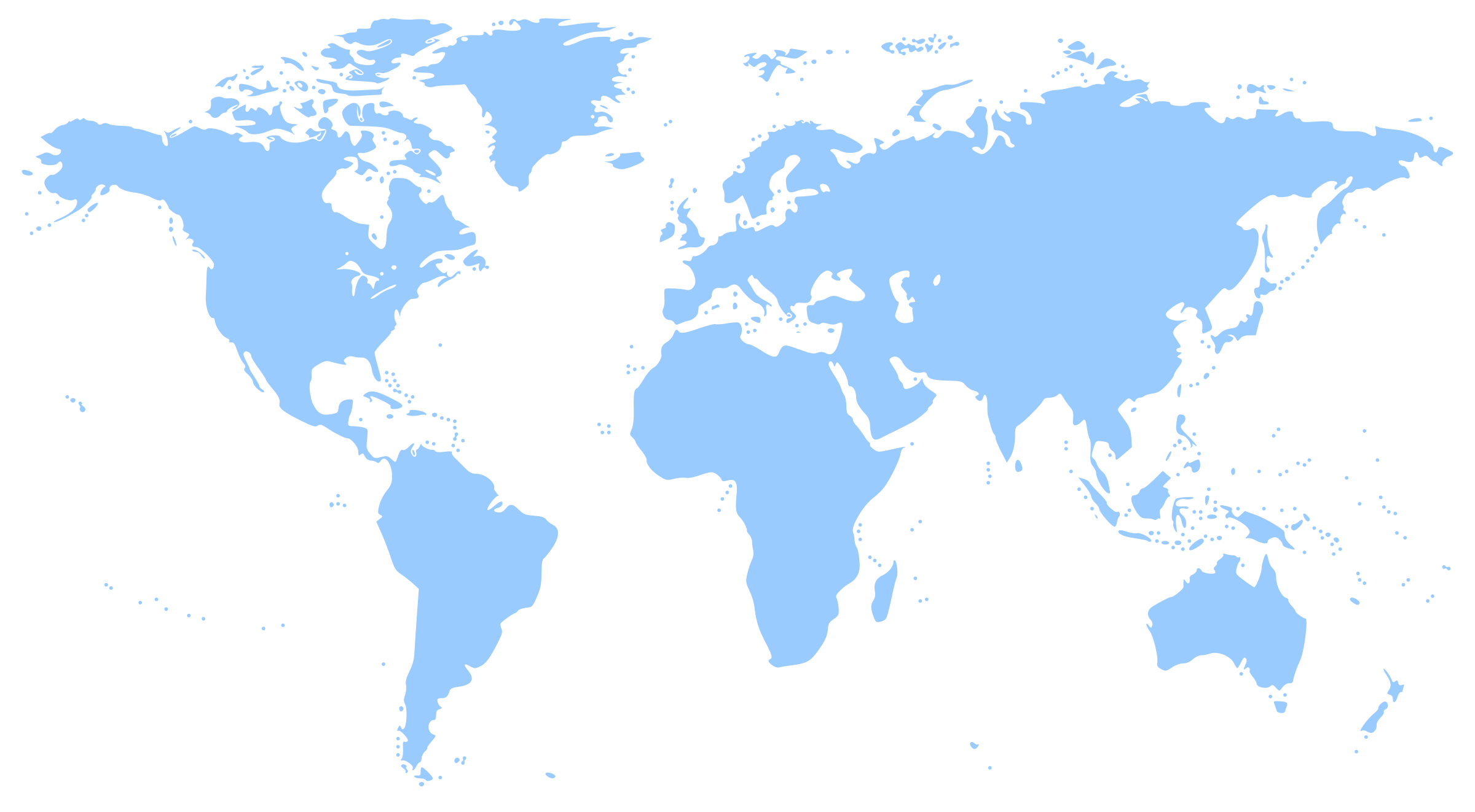 Clipart World Map - Map of globe