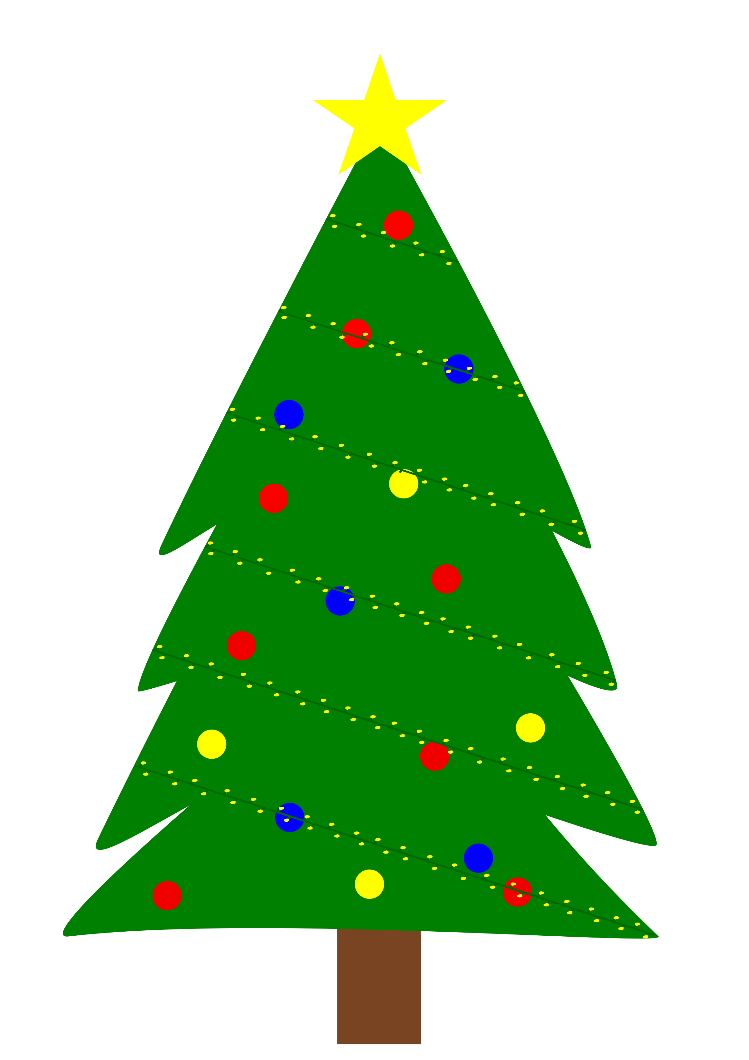 Christmas Tree With Lights
