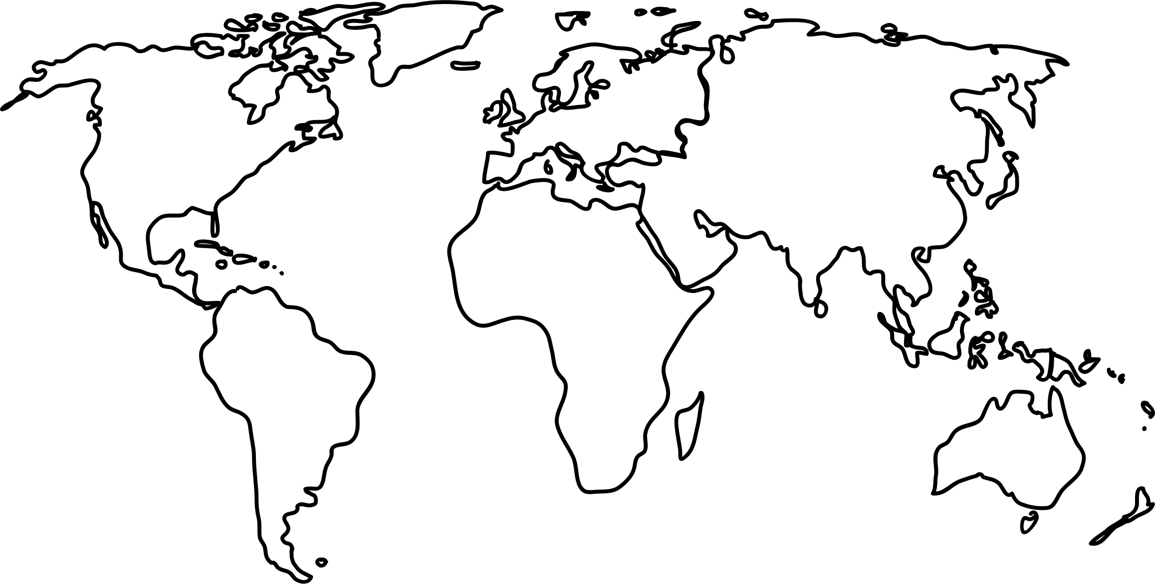 World Map Outline Png Clipart - World Map