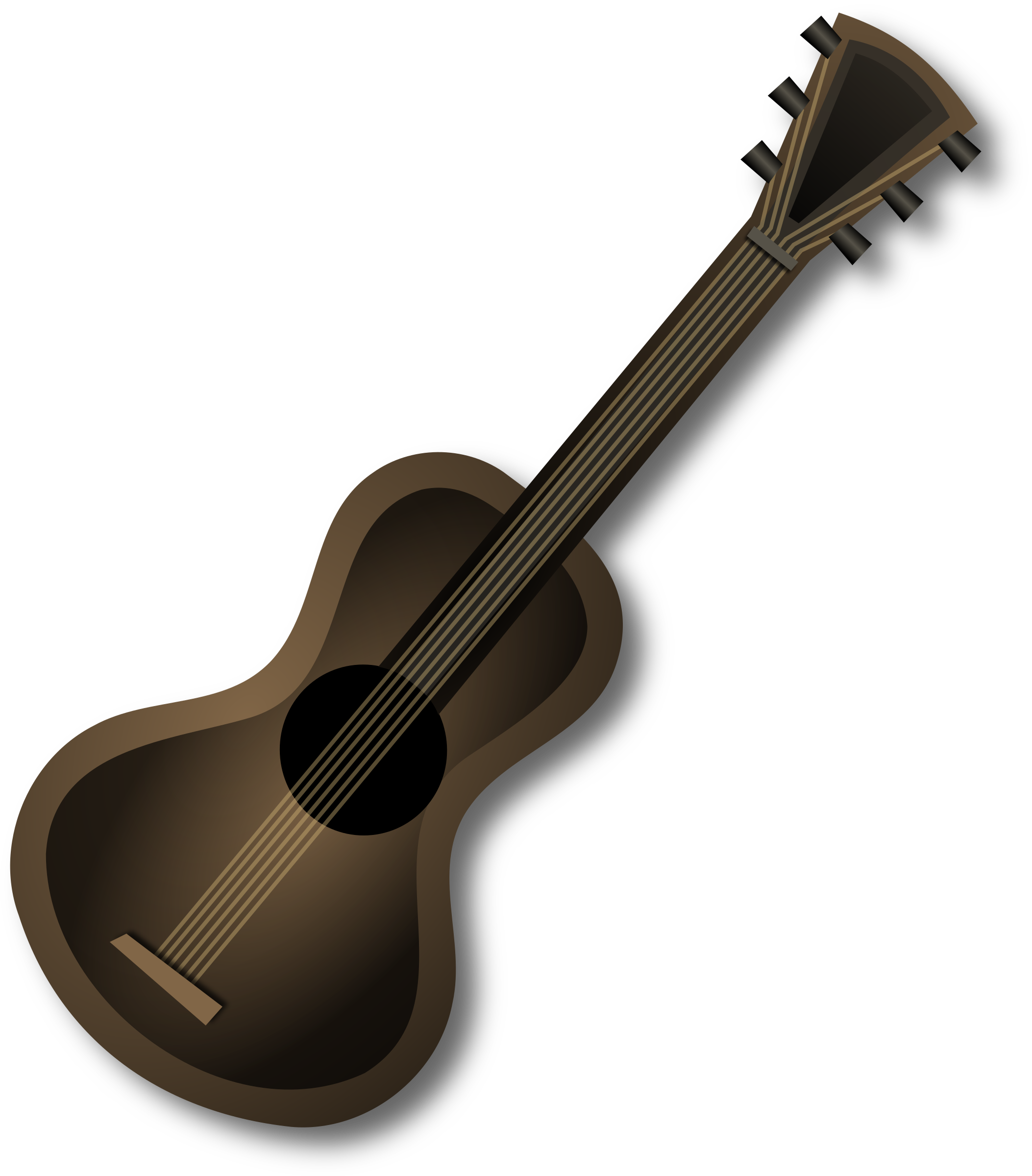 Brown Guitar by Merlin2525